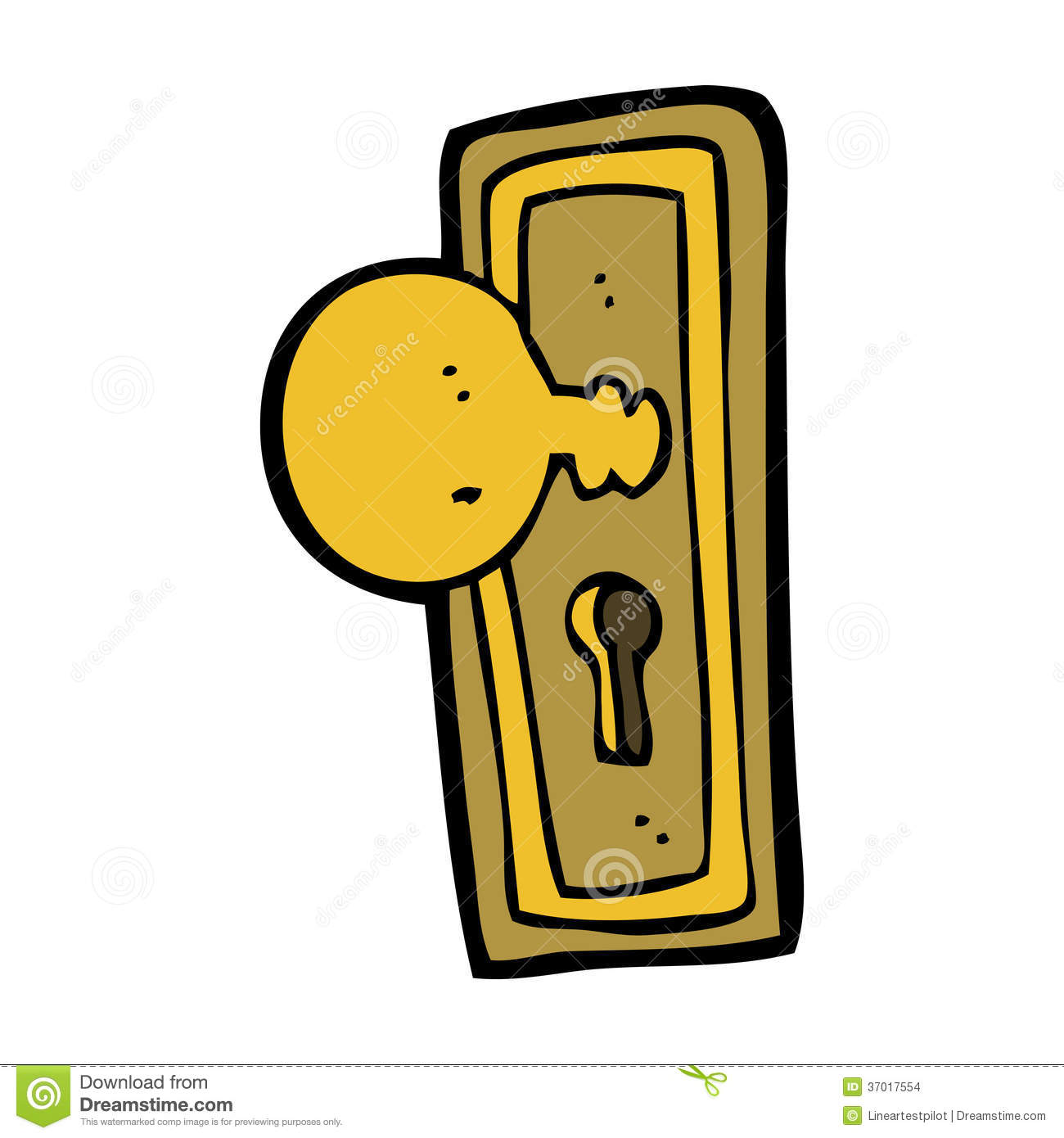 Cartoon door knob stock vector image of retro funny 37017554 - Locked door clipart ...