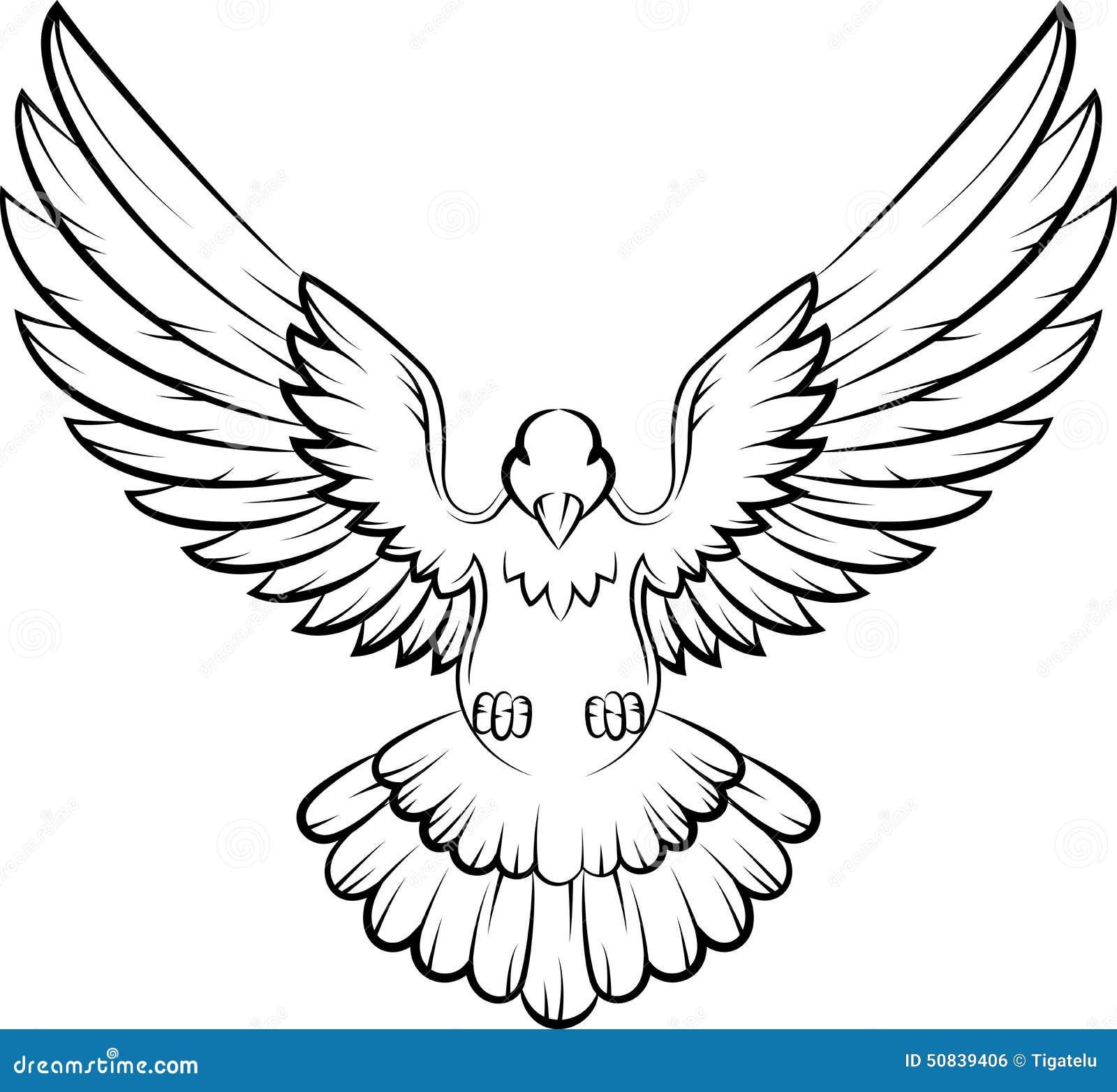 Cartoon Dove Birds Logo For Peace Concept And Wedding Design Stock