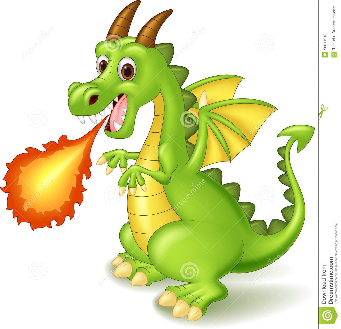 cartoon dragon posing with fire stock vector image 58811910 rhino clipart images rhino clipart images