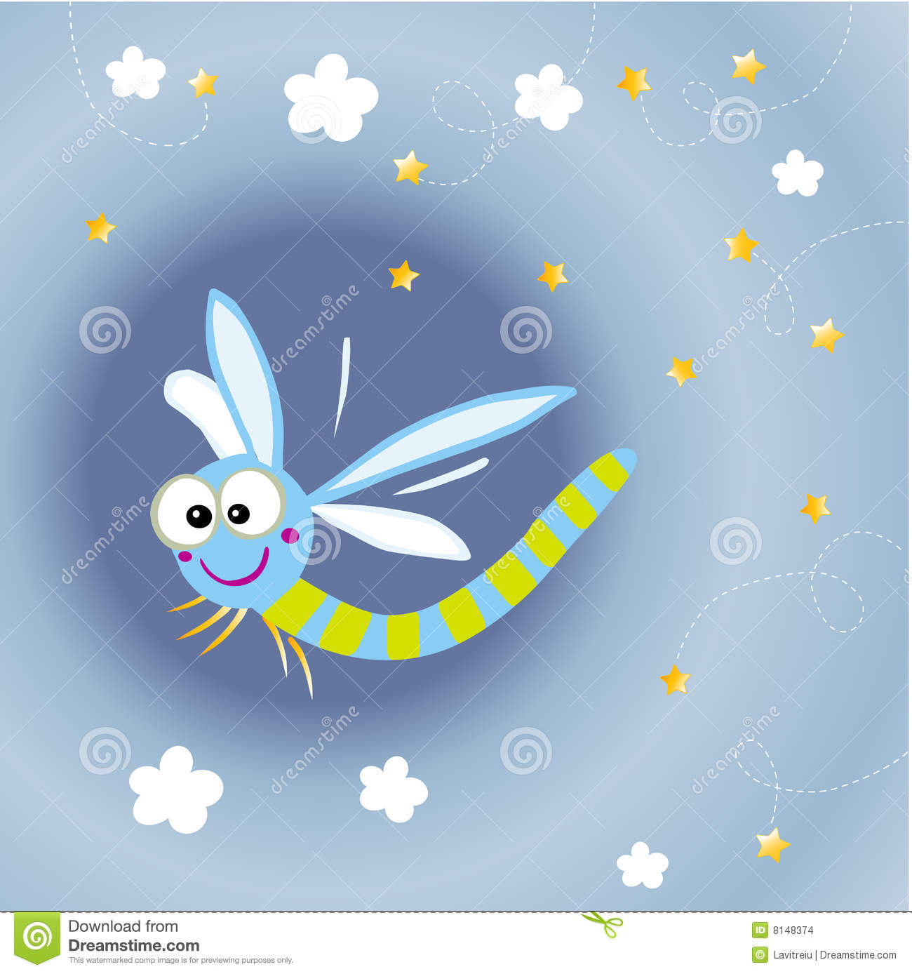 Cartoon Dragonfly Stock Images Image 8148374