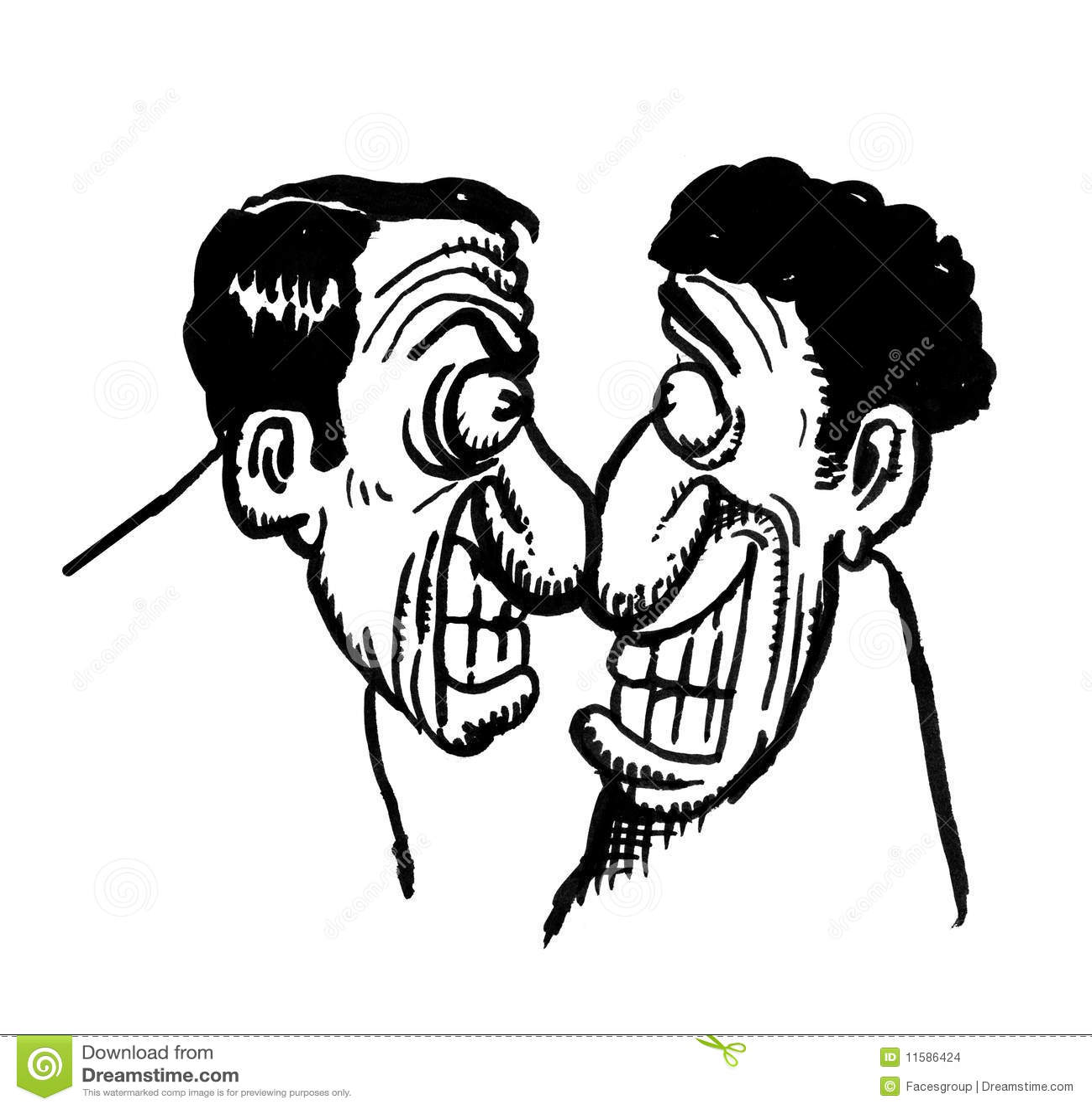 Cartoon Drawing Of 2 Men Stock Illustration Illustration Of Dumb