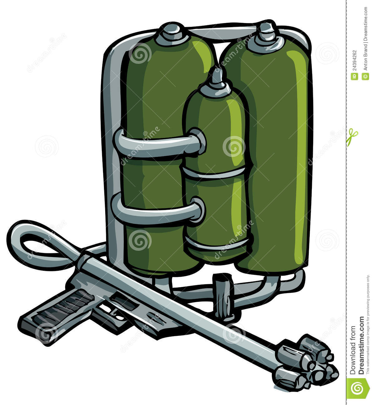 Cartoon Drawing Of Flame Thrower Stock Photography - Image: 24394262