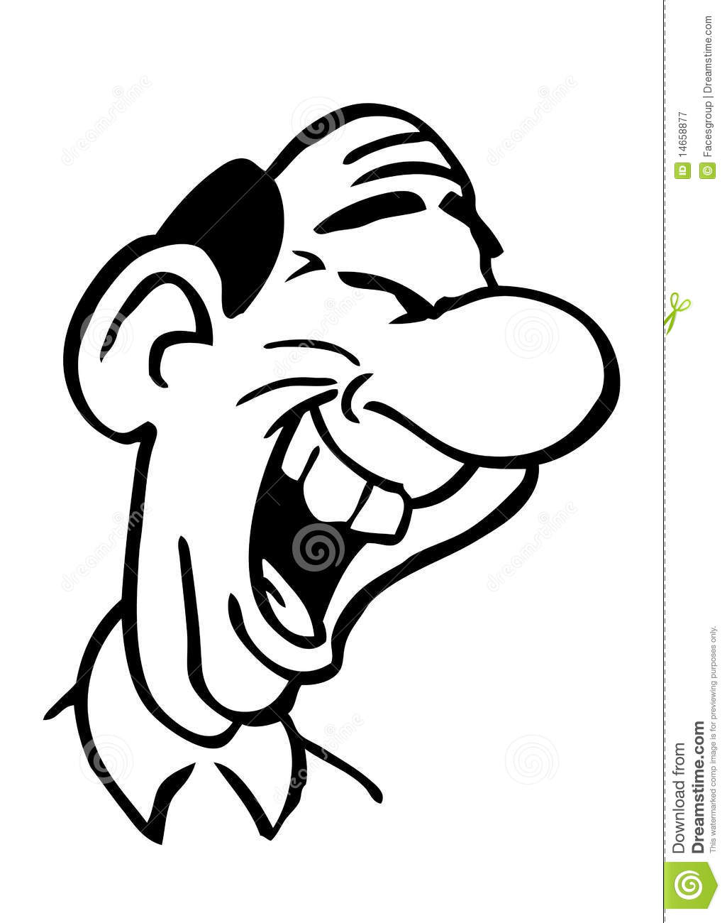 Cartoon Drawing Laughing Man Stock Vector - Illustration ...