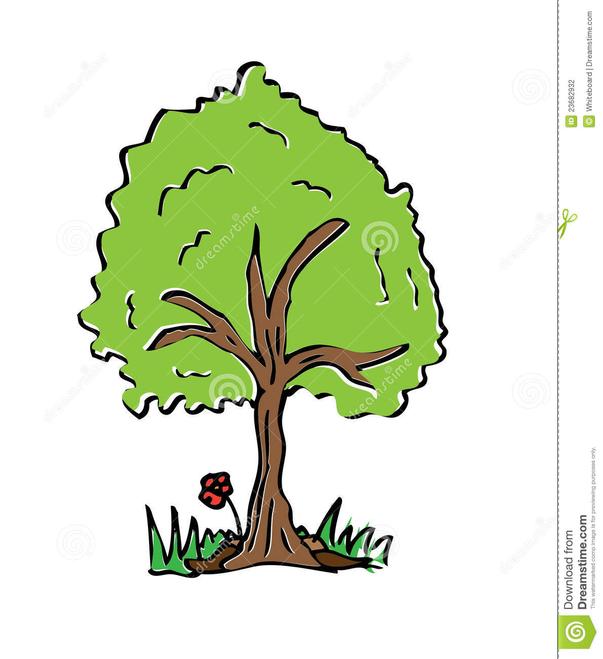 Cartoon drawing tree with color stock illustration - Dessin de arbre ...