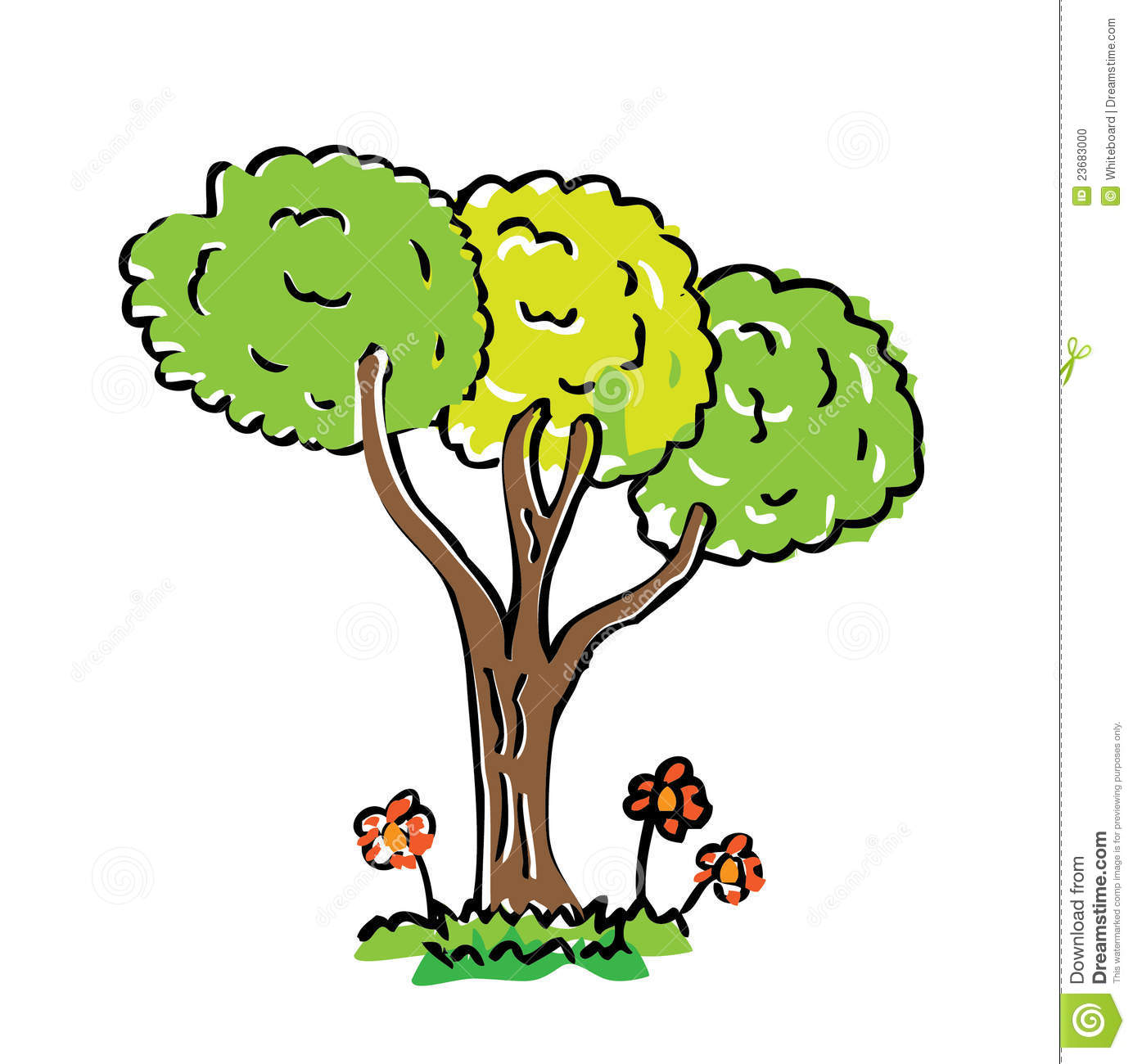 Cartoon Drawing Tree With Color Stock Illustration - Illustration of ... for Tree Drawing With Color  268zmd