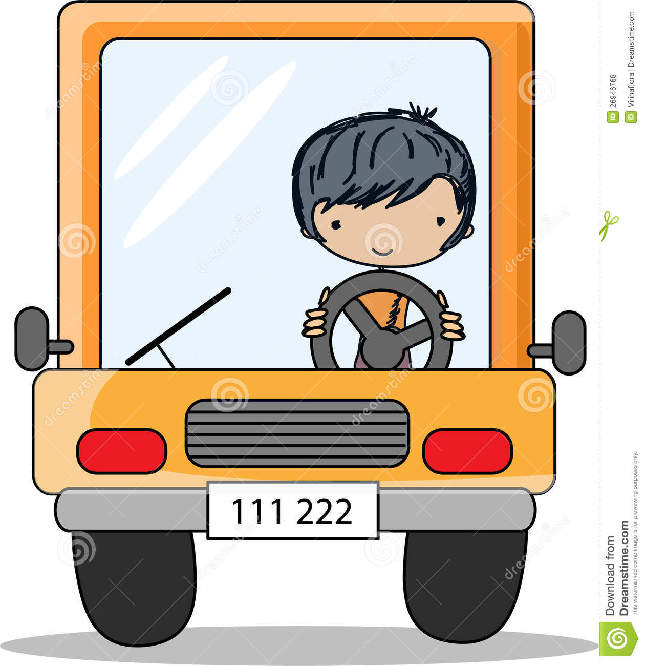 Cartoon Driver,vector Royalty Free Stock Photos - Image: 26946768