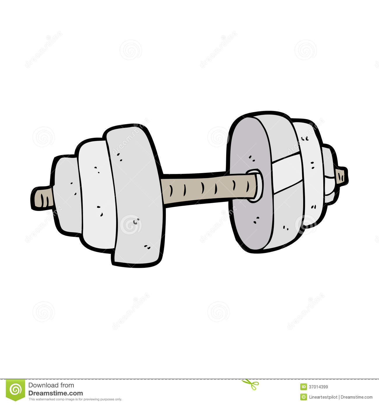 Cartoon dumbbell stock vector. Illustration of silly ...