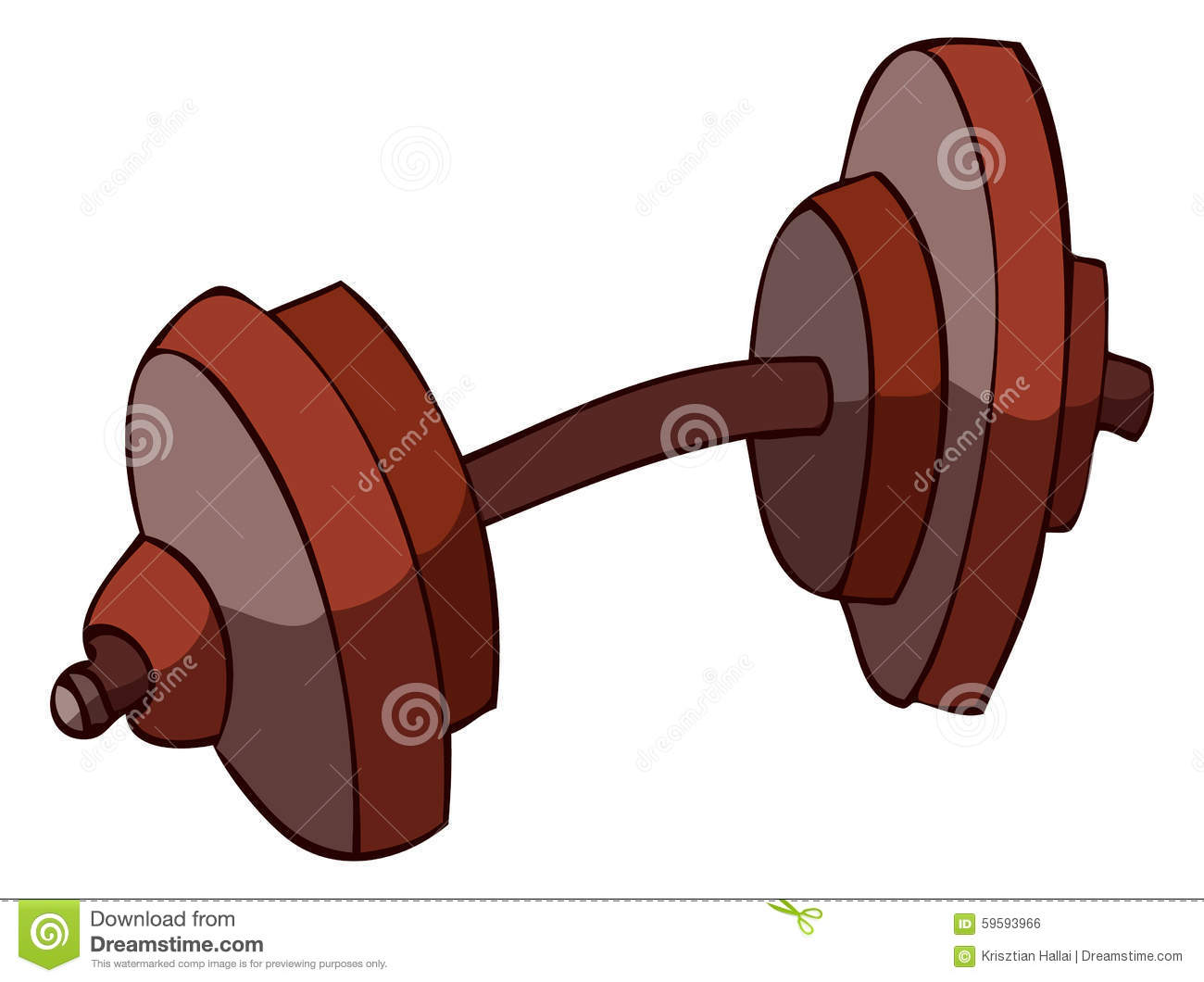 Cartoon Dumbbell, Vector Illustration. Stock Vector ...