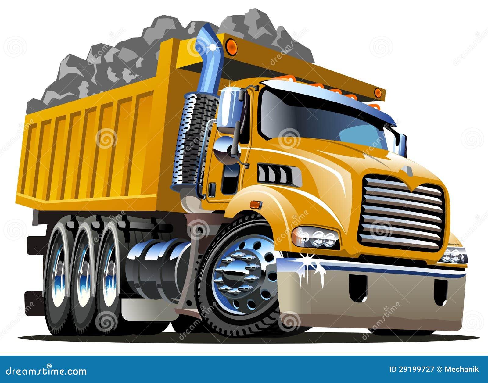 Cartoon Dump Truck isolated on white backgound. Available AI-CS4 ...