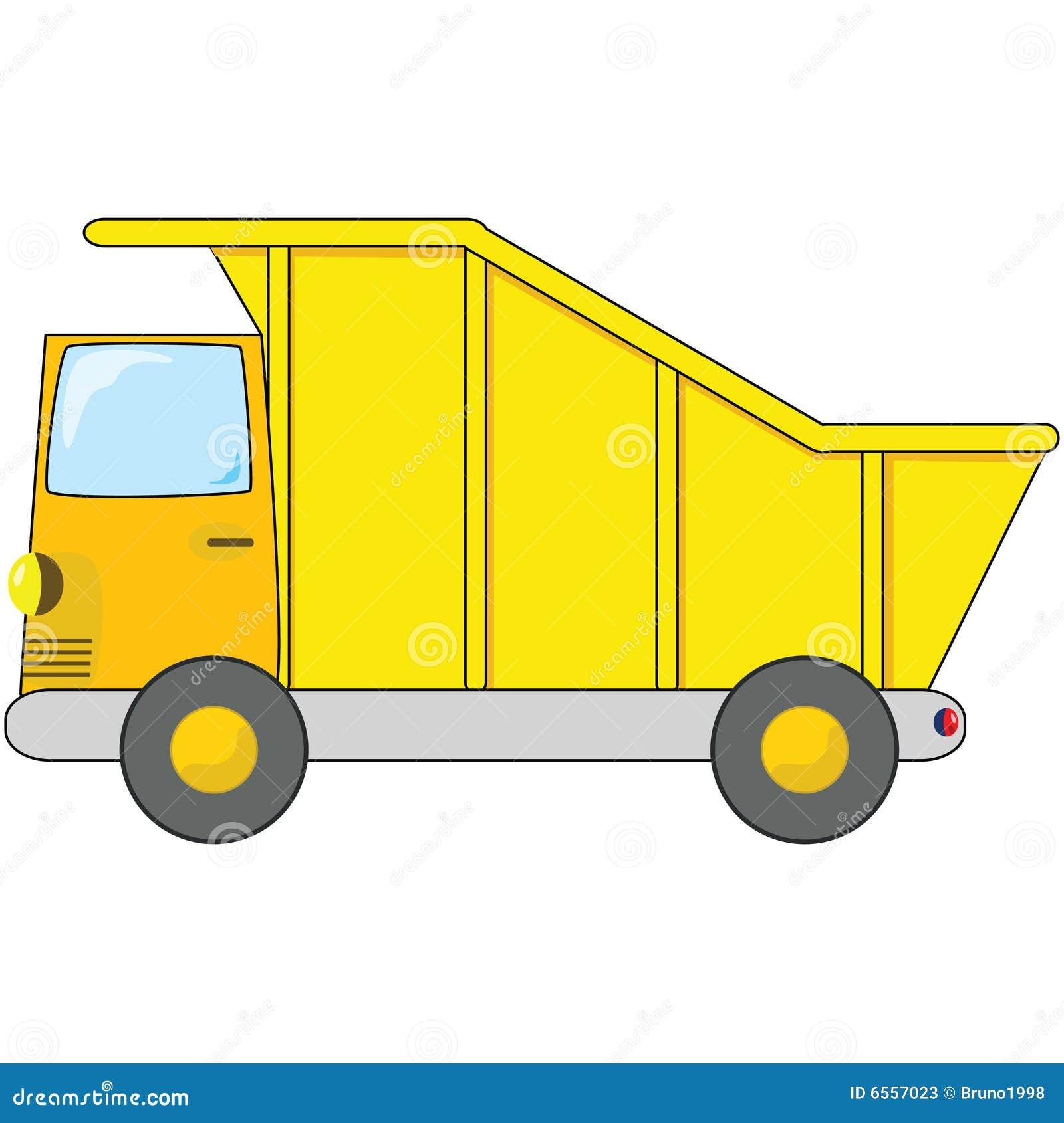 Cartoon Dump Truck Stock Vector. Illustration Of Machine