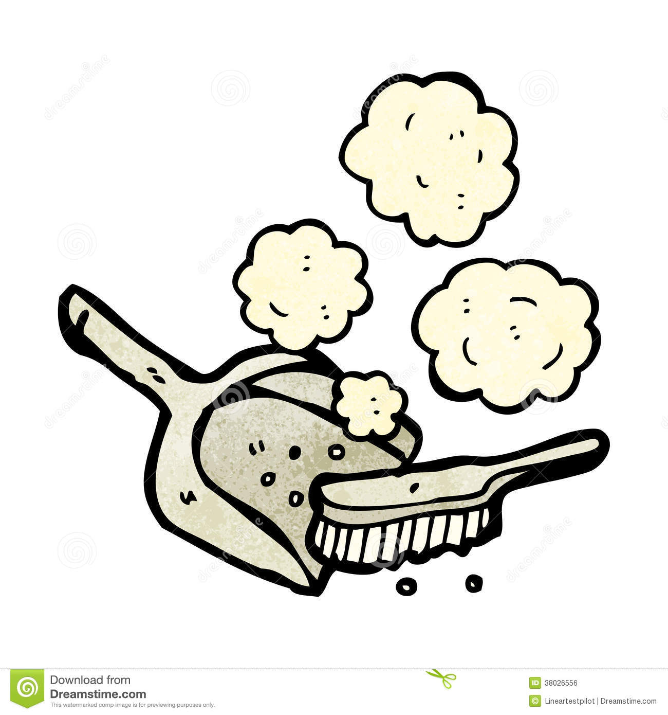 Cartoon Dust Pan And Brush Royalty Free Stock Image - Image: 38026556