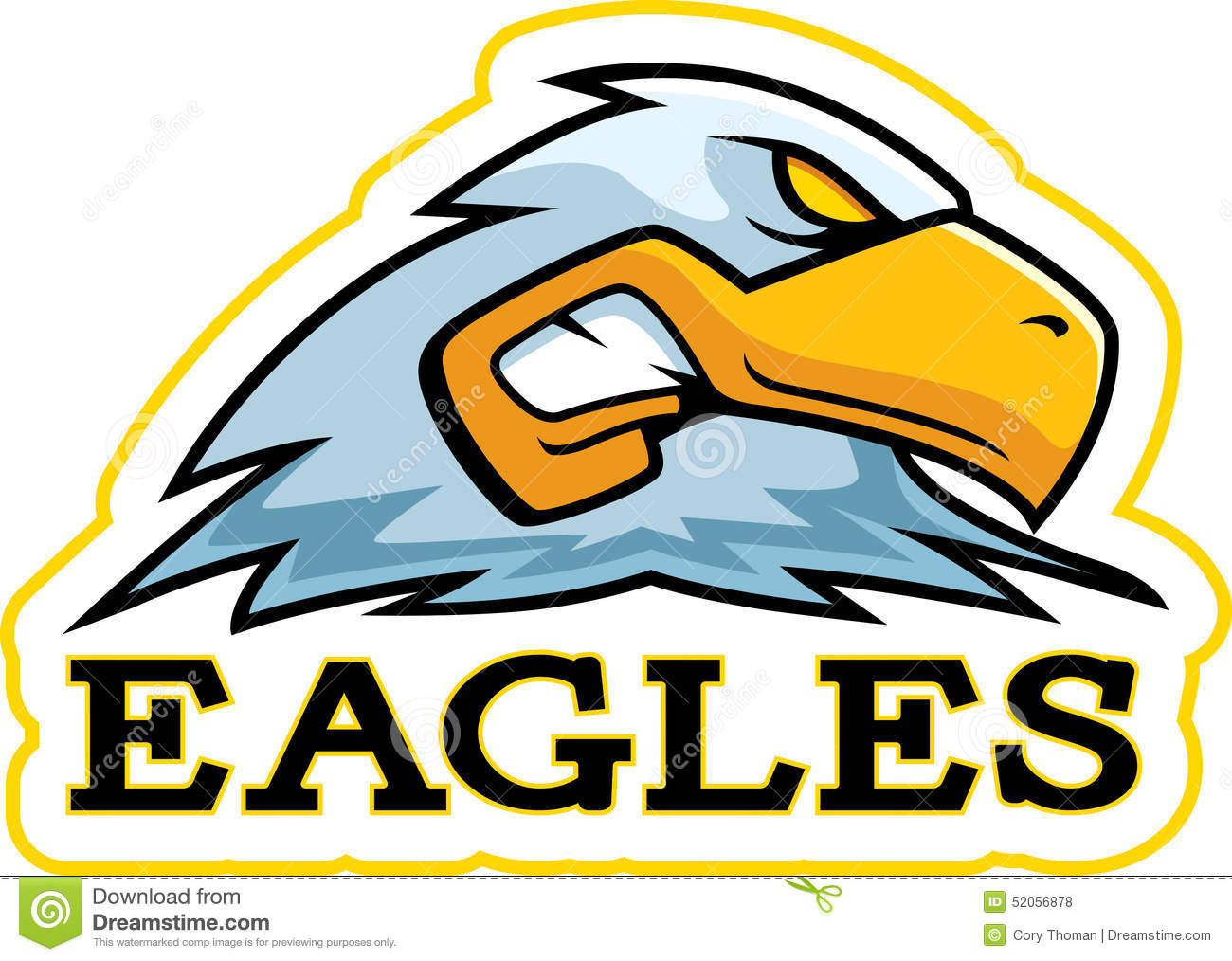 Cartoon Eagle Mascot Stock Vector - Image: 52056878