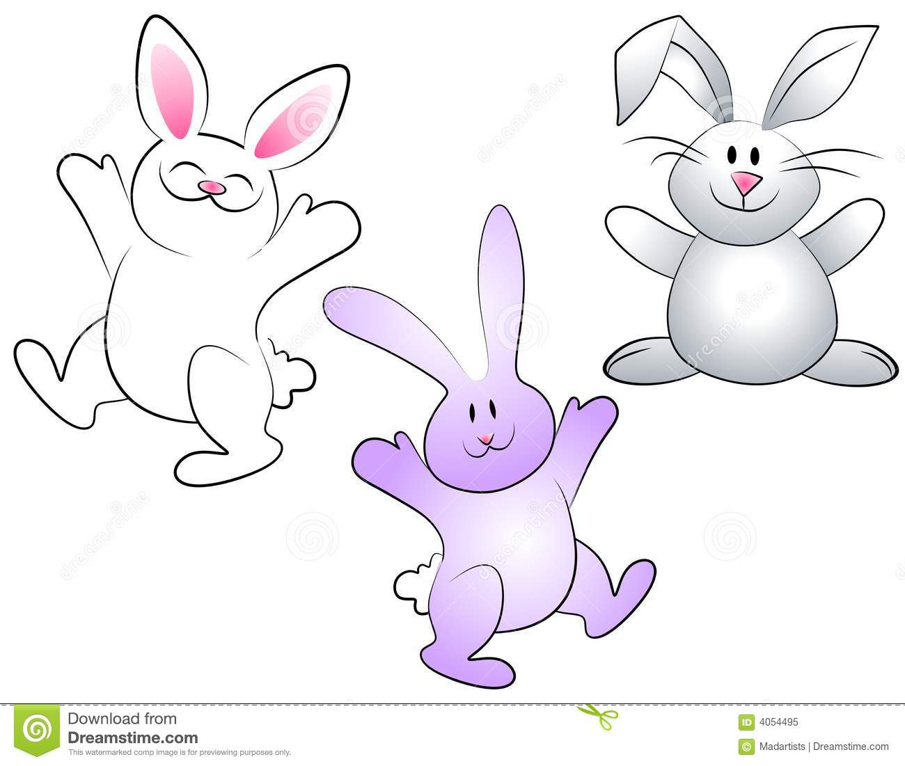 Cartoon Easter Bunnies Royalty Free Stock Photo - Image ...
