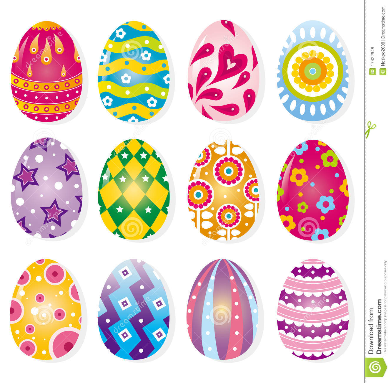 Cartoon Easter Egg Royalty Free Stock Photos Image 17422948