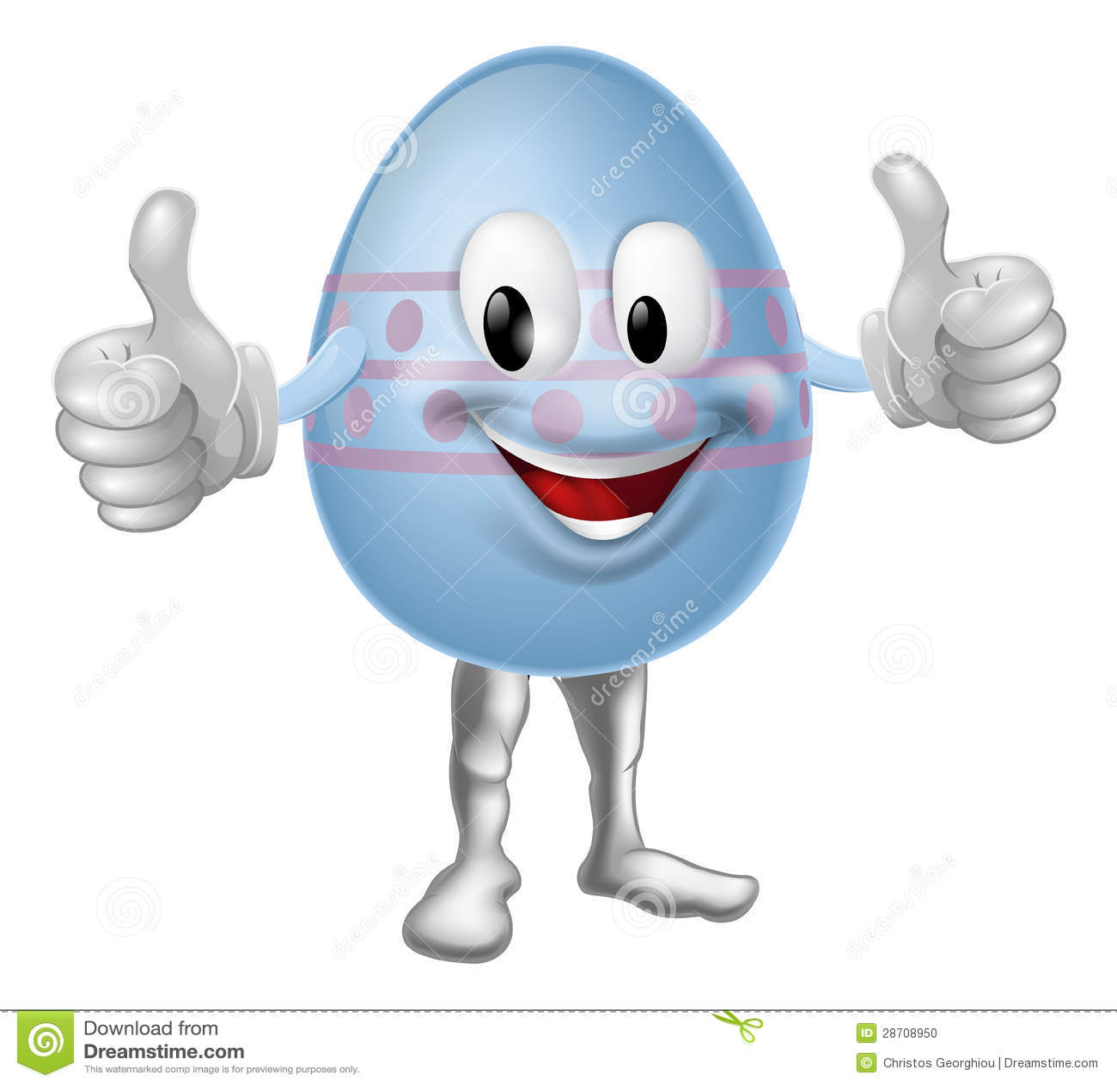 Cartoon chocolate easter egg character vector illustration