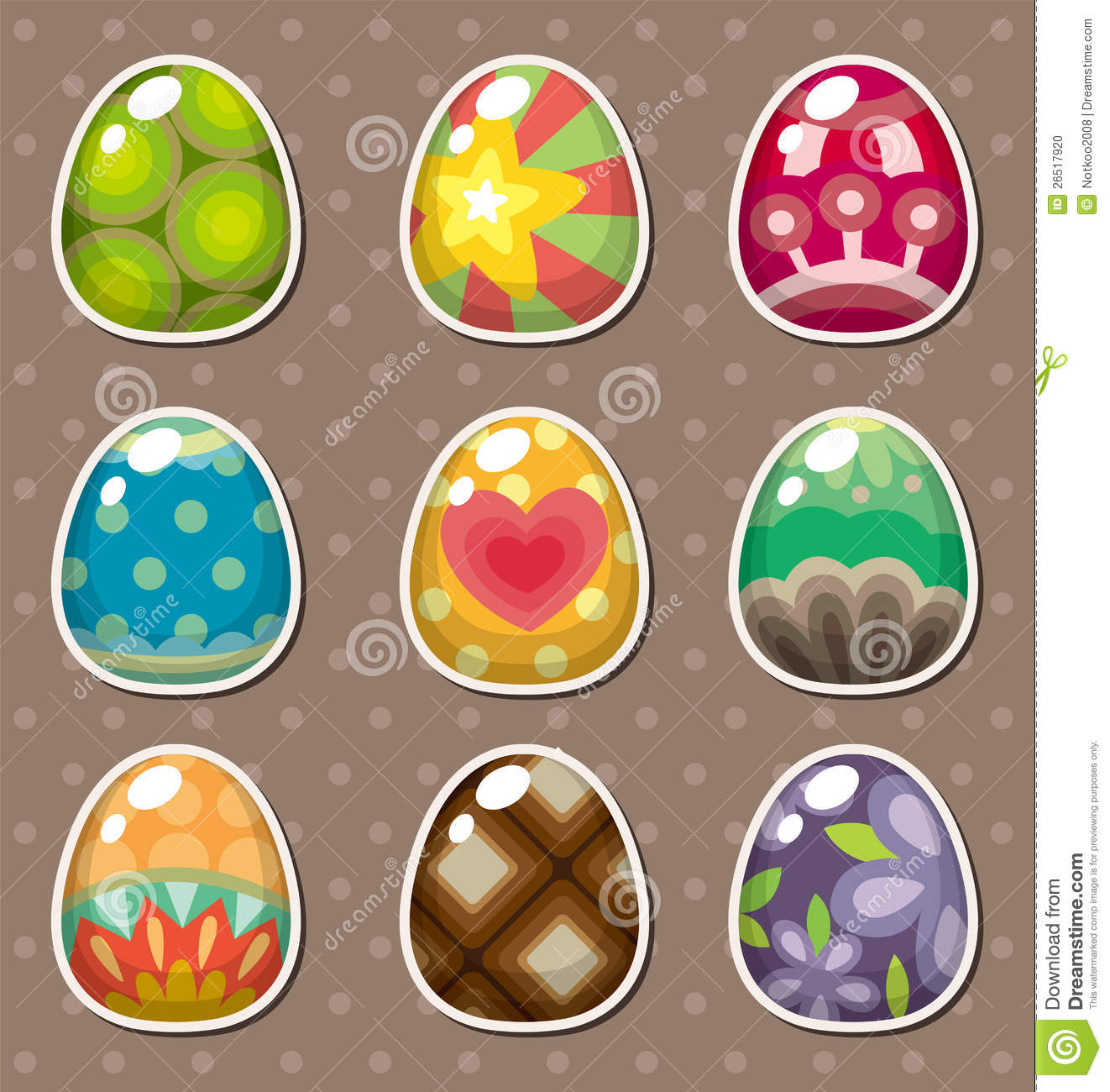 Easter Stickers Stock Vector - Image: 49425594