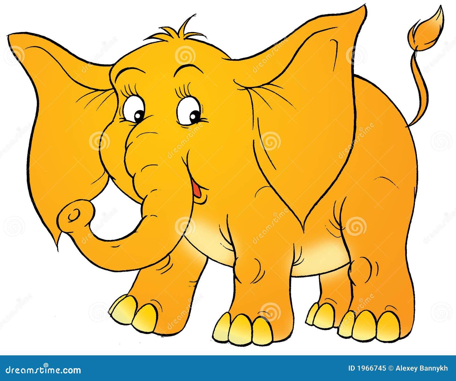 Cartoon elephant stock illustration. Illustration of ...