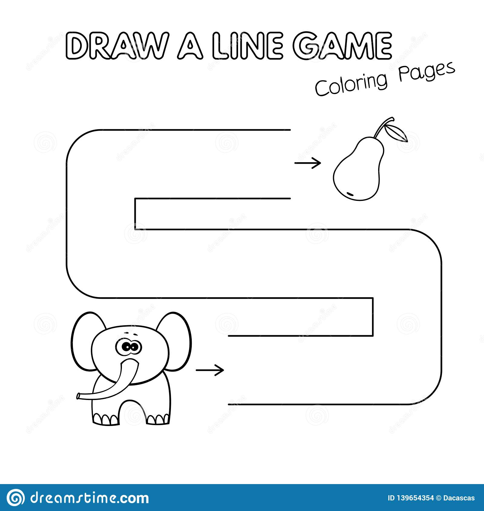 cartoon elephant coloring book game for