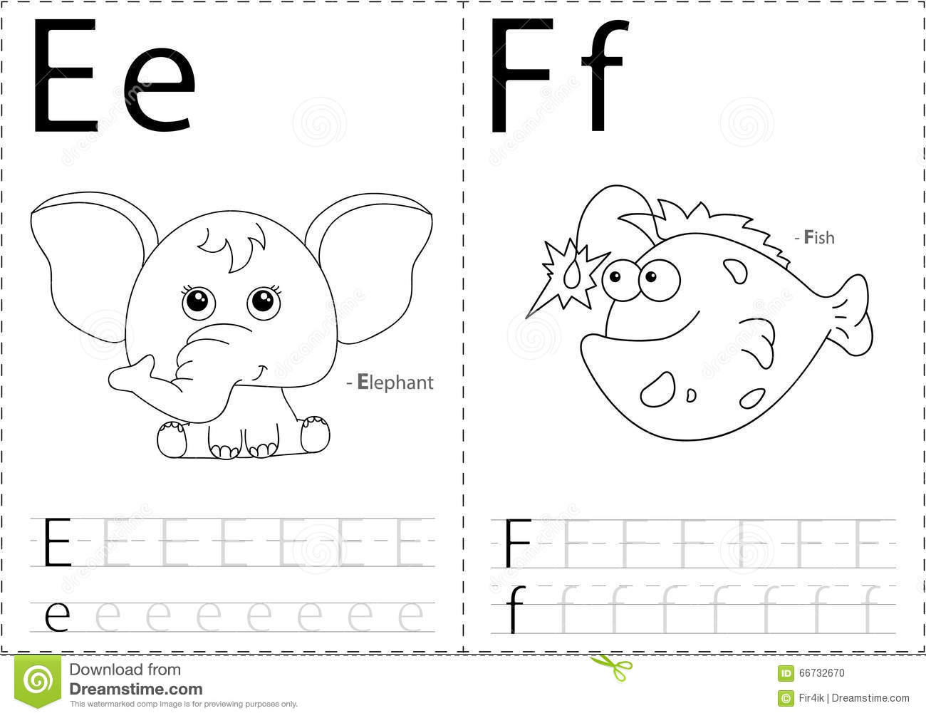 Cartoon Witch And Window. Alphabet Tracing Worksheet: Writing A ...