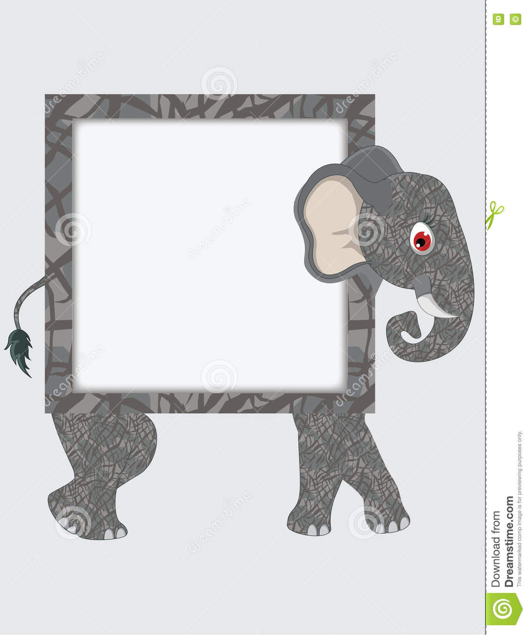 Cartoon elephant frame stock vector. Illustration of character ...