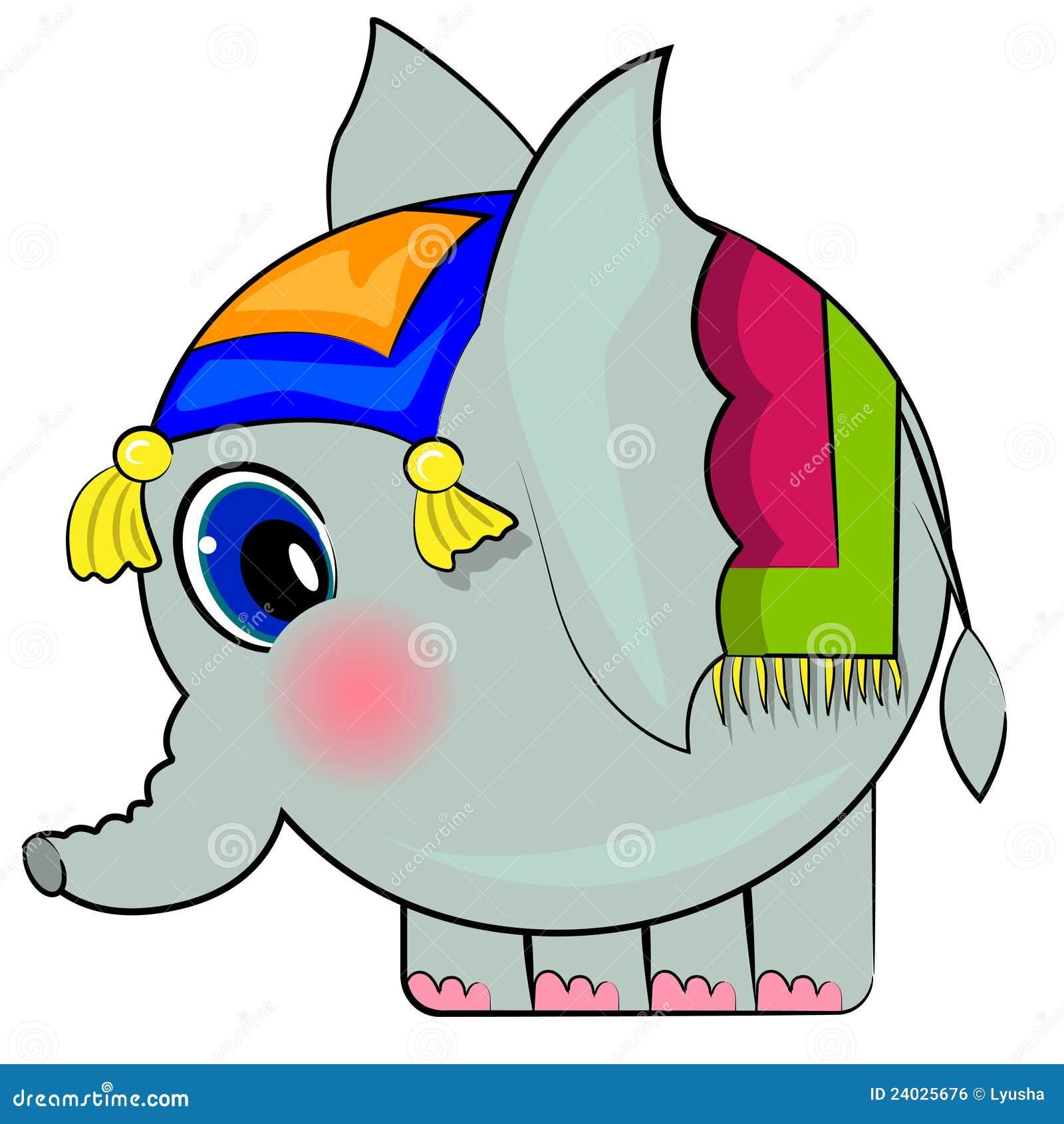 Cartoon Elephant. Funny Indian Elephant Royalty Free Stock Image ...