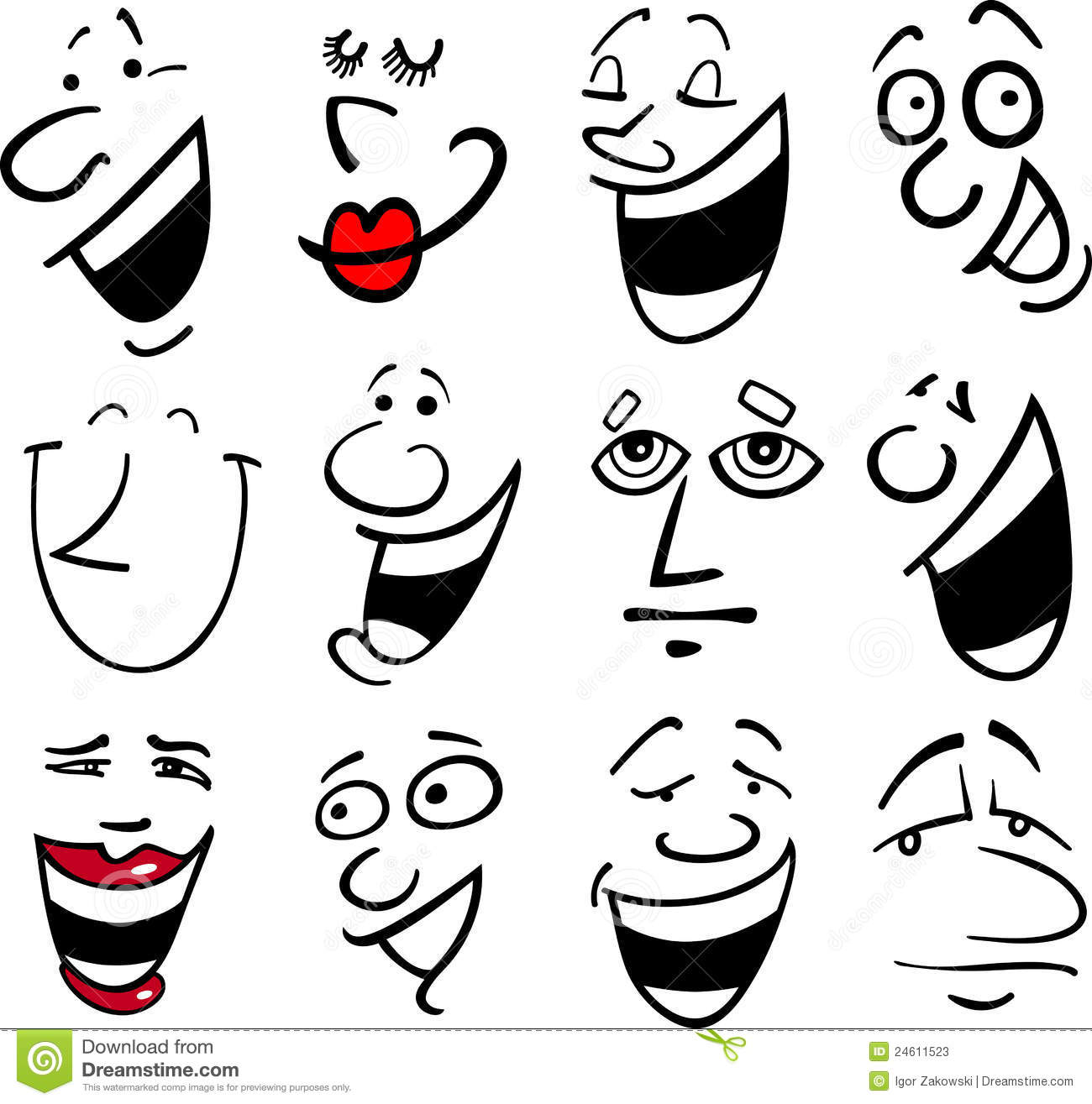 Cartoon Emotions Illustration Stock Photos - Image: 24611523