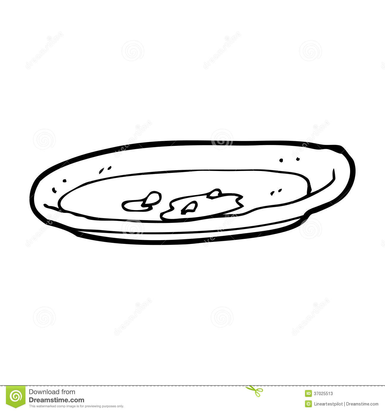 Cartoon Empty Plate Stock Illustration Illustration Of Finished