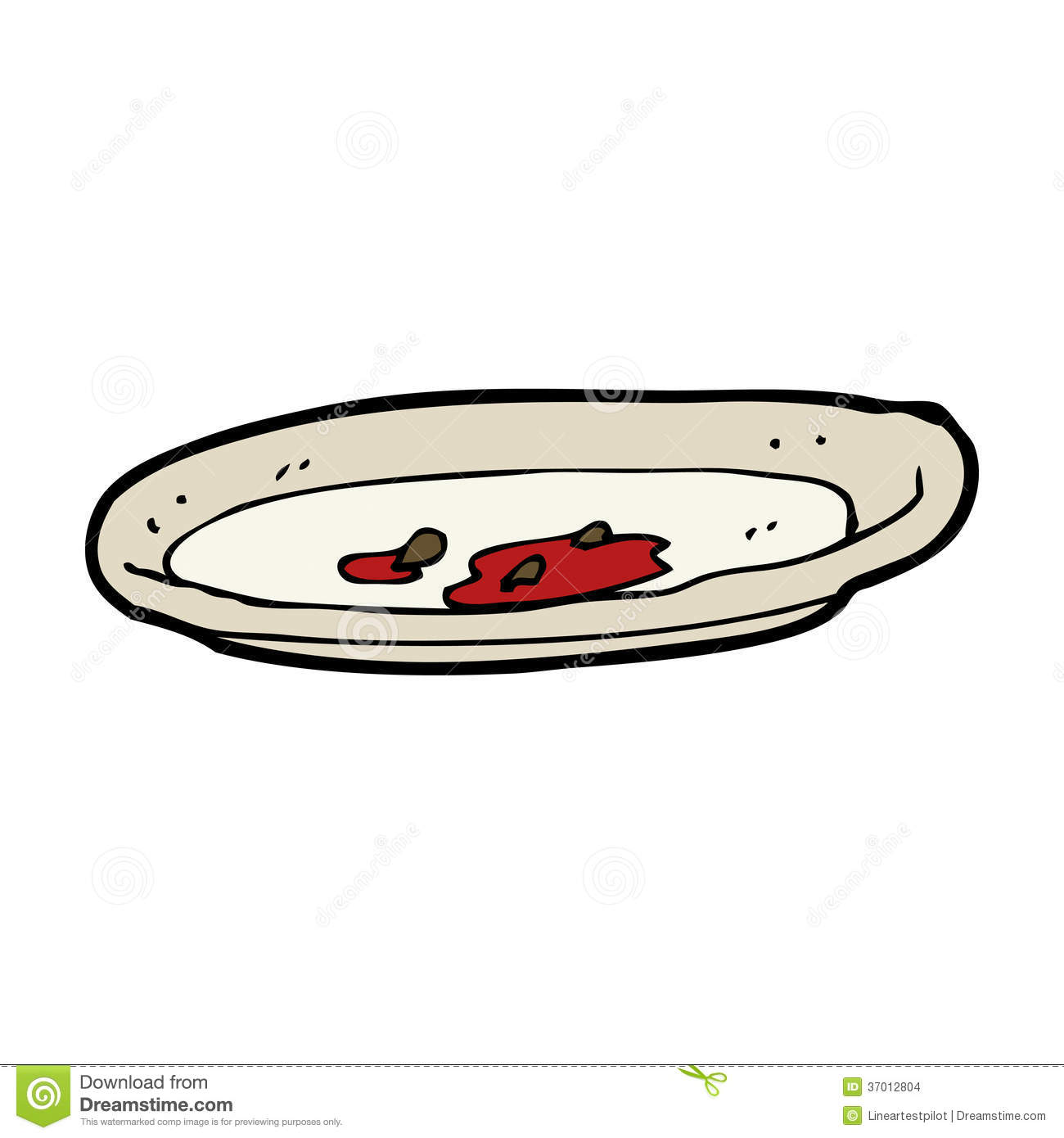 Empty Plate Cartoon cartoon empty plate