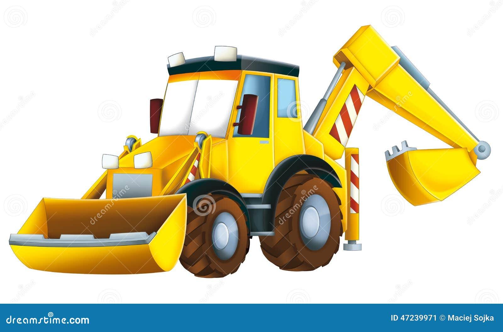 cartoon excavator stock illustration image 47239971 bulldozer clipart free outline bulldozer clip art black & white
