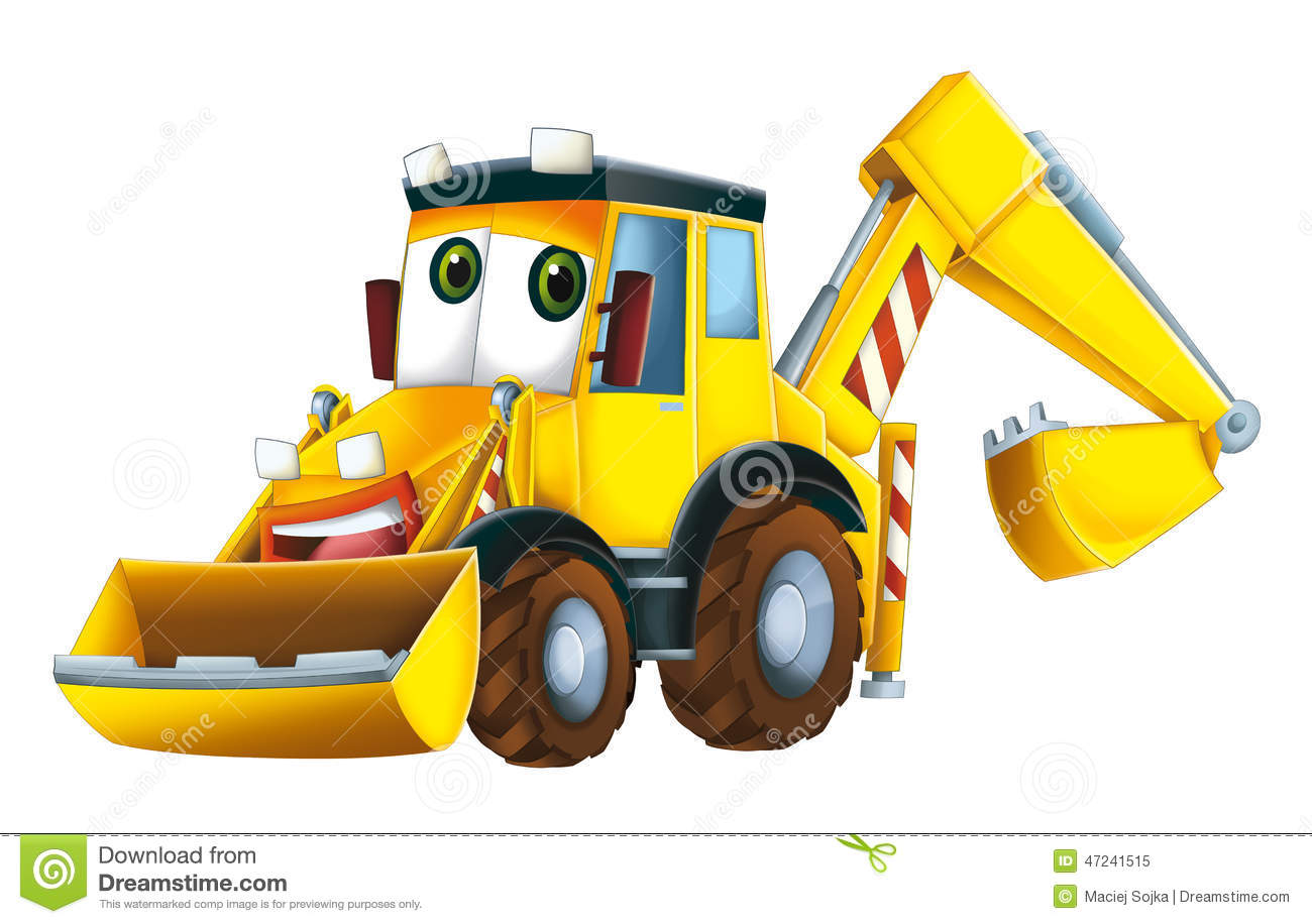Cartoon Excavator Stock Illustration - Image: 47241515