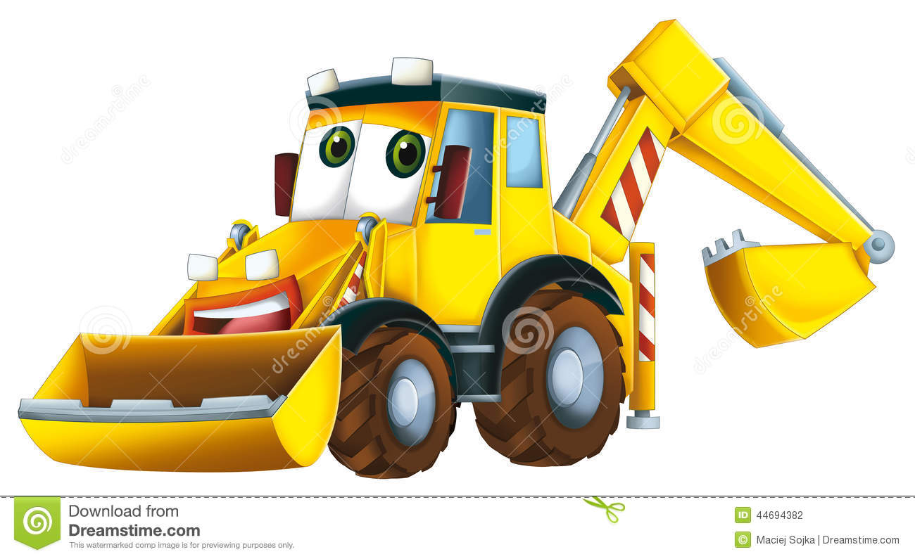 Cartoon Excavator - Caricature Stock Illustration ...