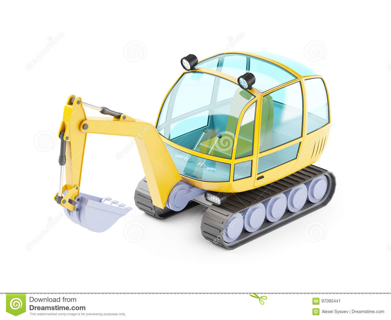Excavator Cartoons, Illustrations & Vector Stock Images