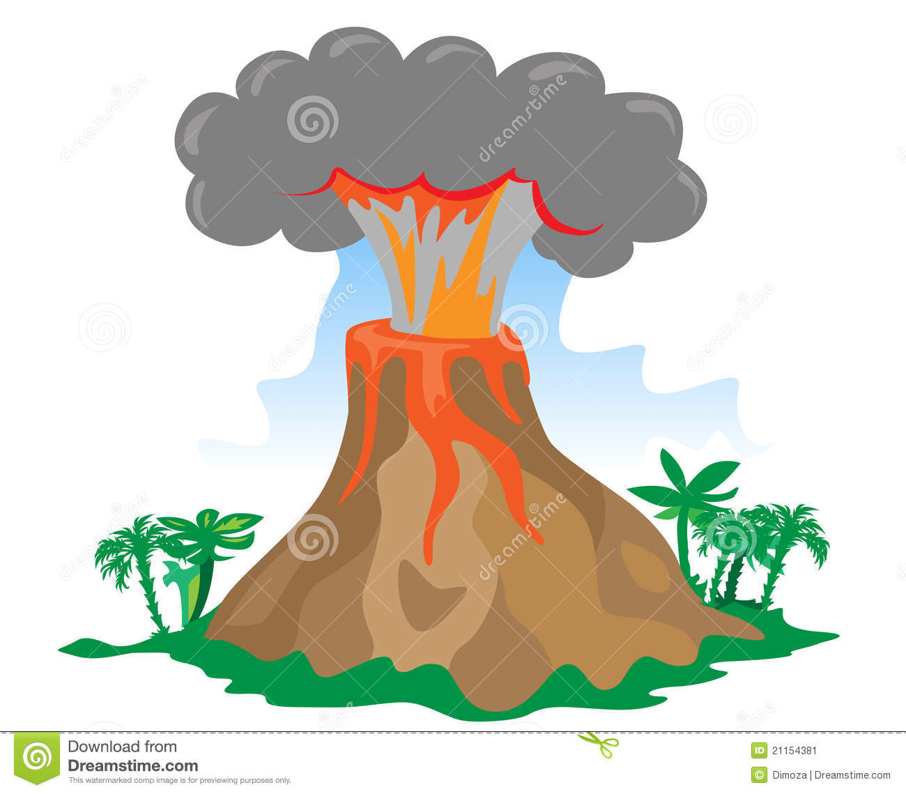 Cartoon Exploding Volcano Stock Image - Image: 21154381