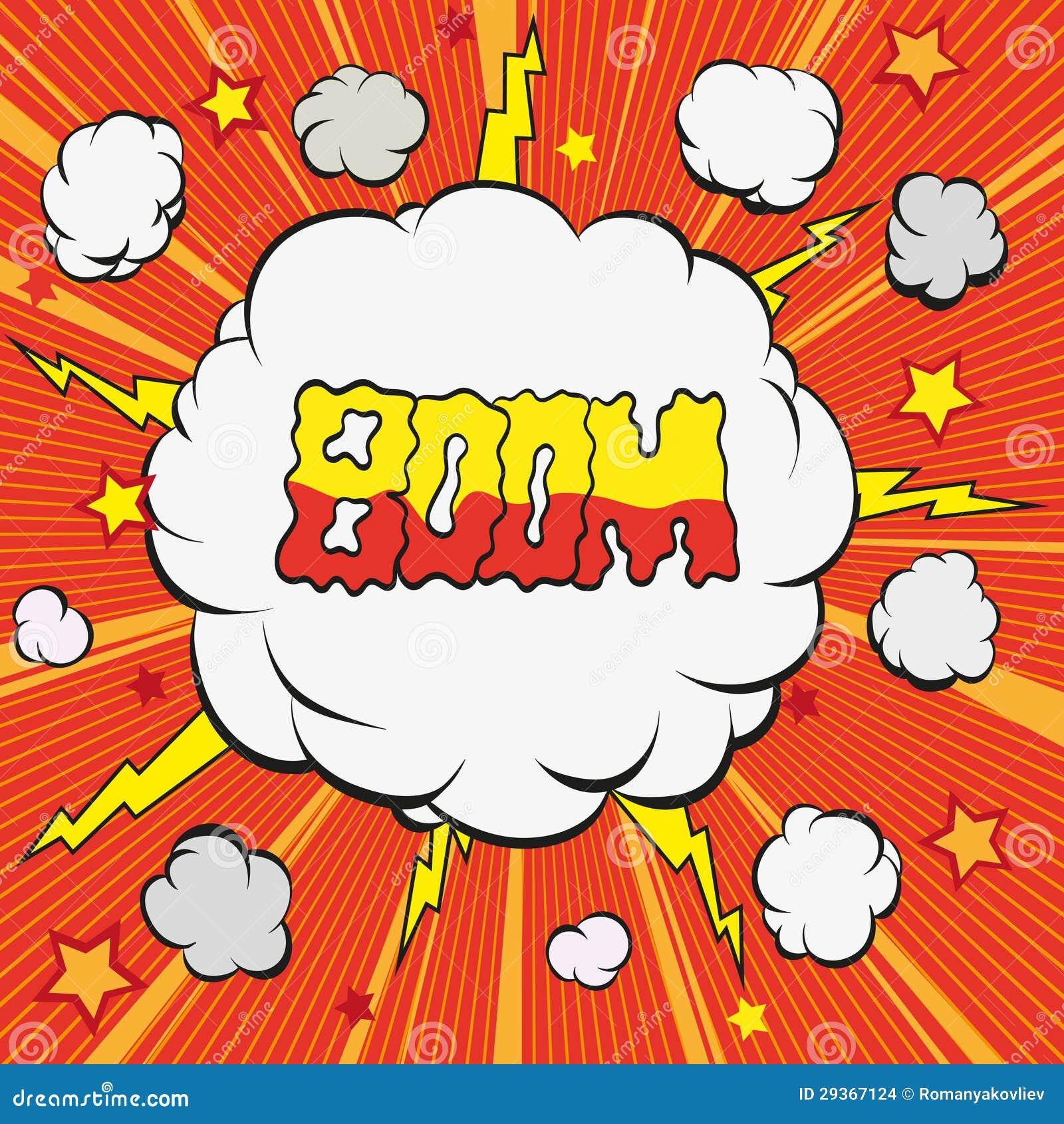 cartoon explosion stock vector  image of creativity  colorful