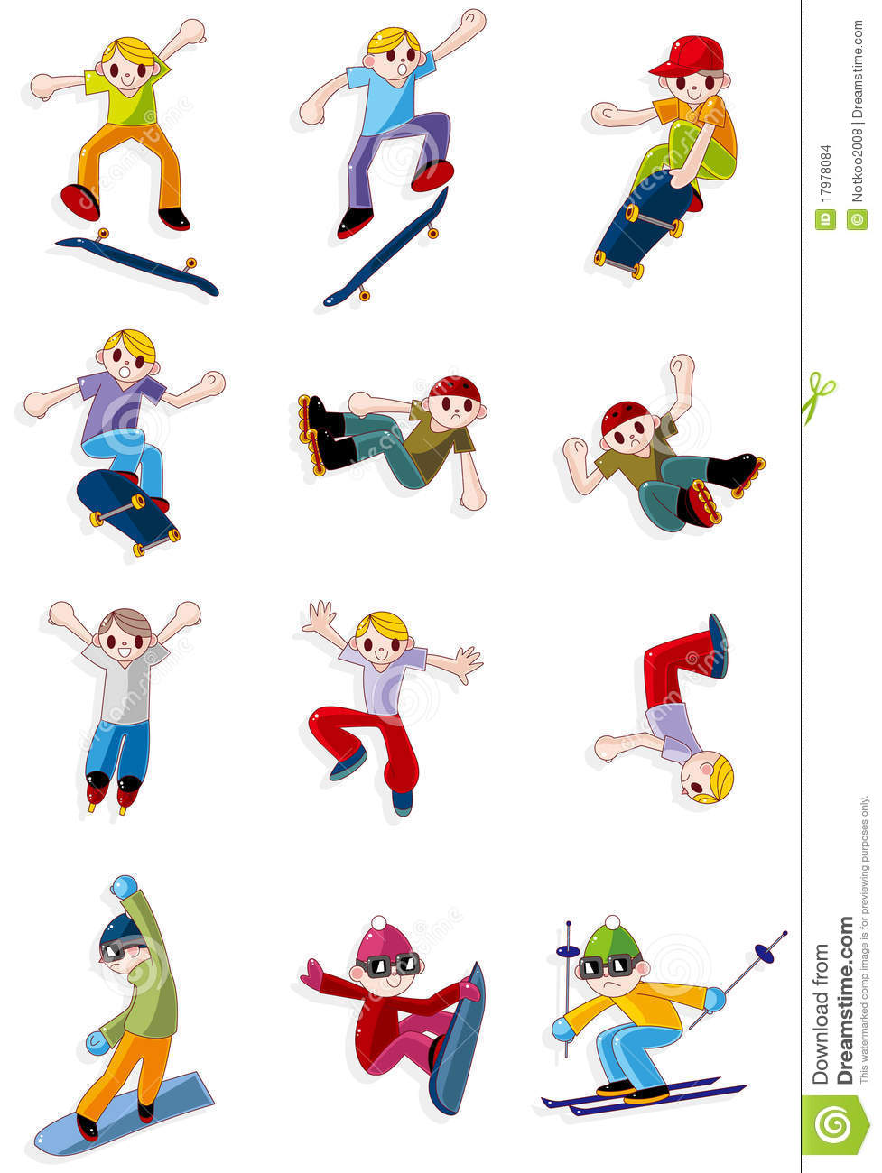Cartoon Extreme Sport Icon Stock Images Image 17978084