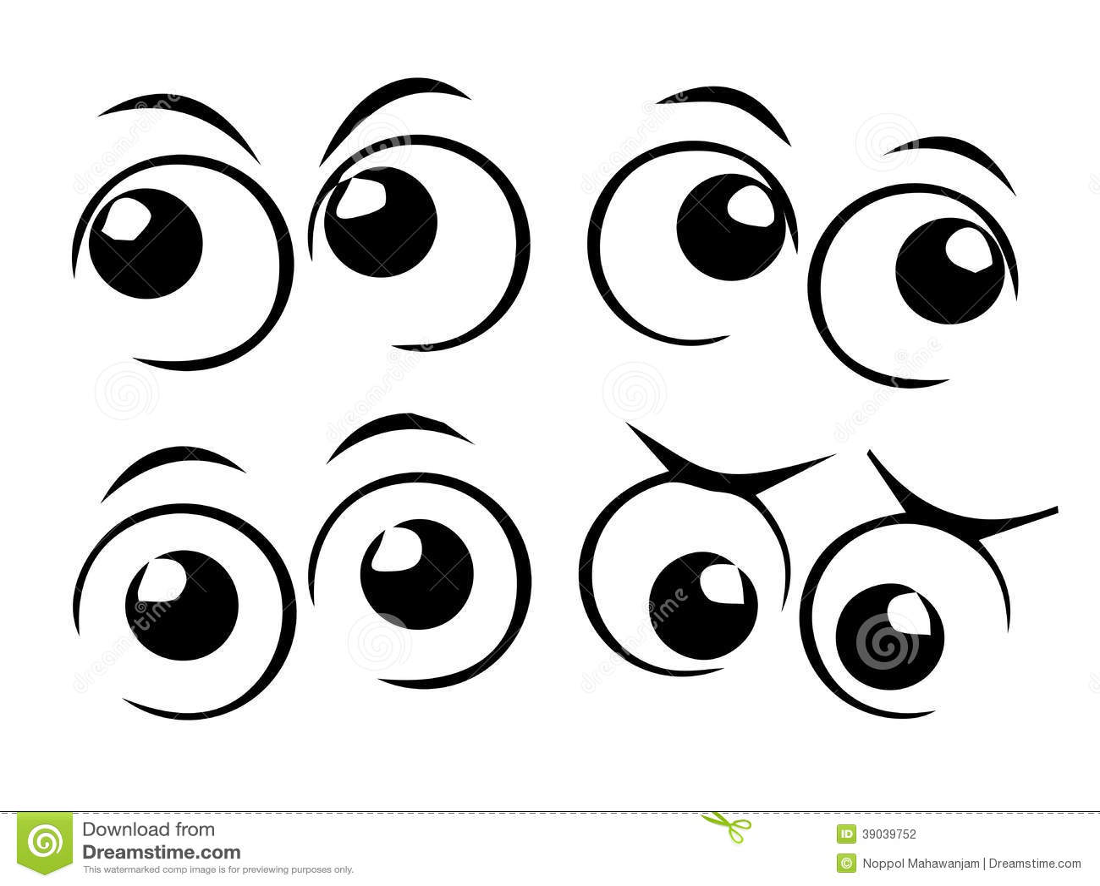 Cartoon eyes stock vector. Illustration of art, element ...