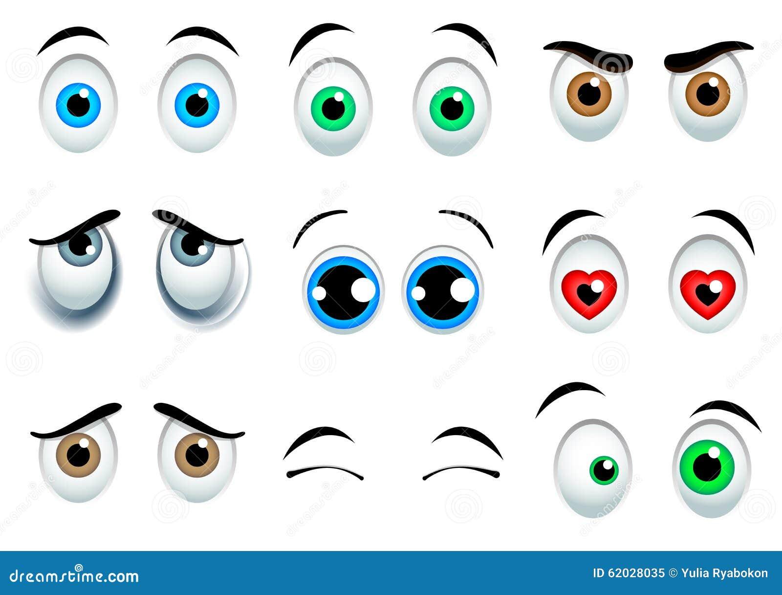 Download Cartoon eyes set stock vector. Illustration of clipart - 62028035