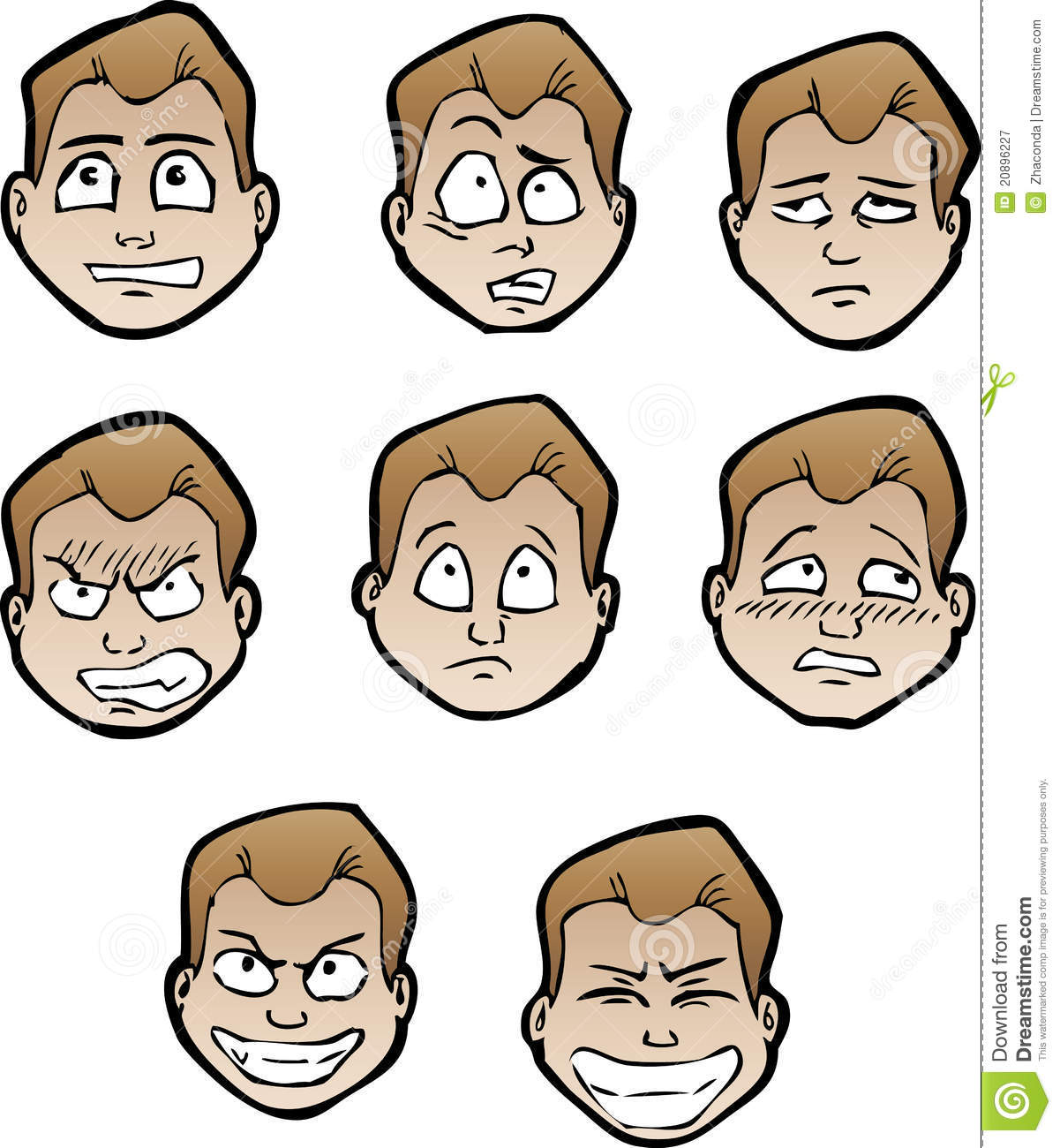 Cartoon Faces Male Royalty Free Stock Photography - Image: 20896227