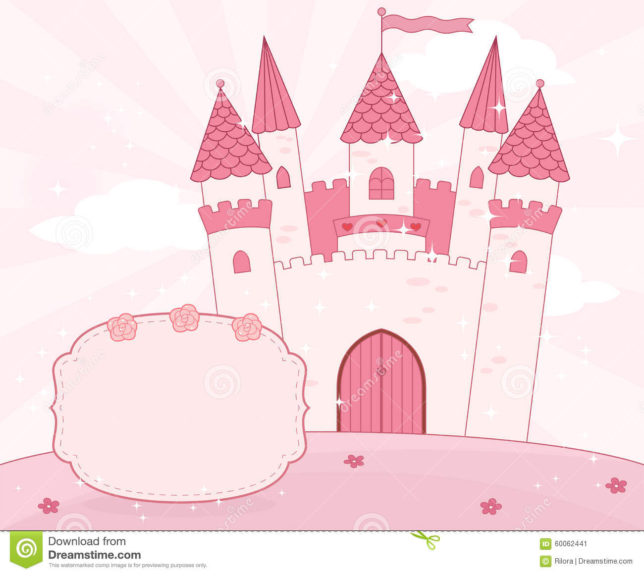 Stock Illustration Cartoon Fairy Tale Castle Background Place Text Vector Image60062441 on Castle Home Plans Medieval