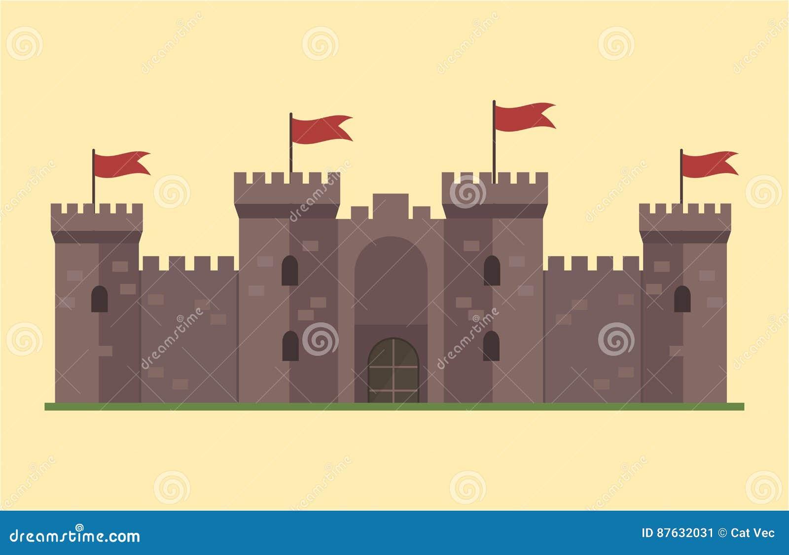cartoon fairy tale castle tower icon cute architecture fantasy