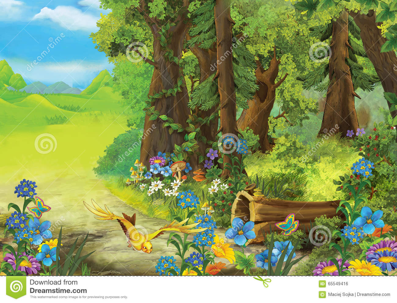 Cartoon fairy tale of forest nature image for - Fotos tale mporaines ...