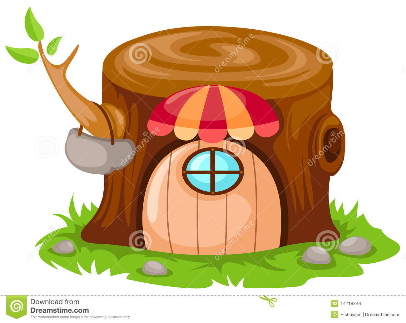 Cartoon Fairy Tale House Stock Vector Image Of Nature