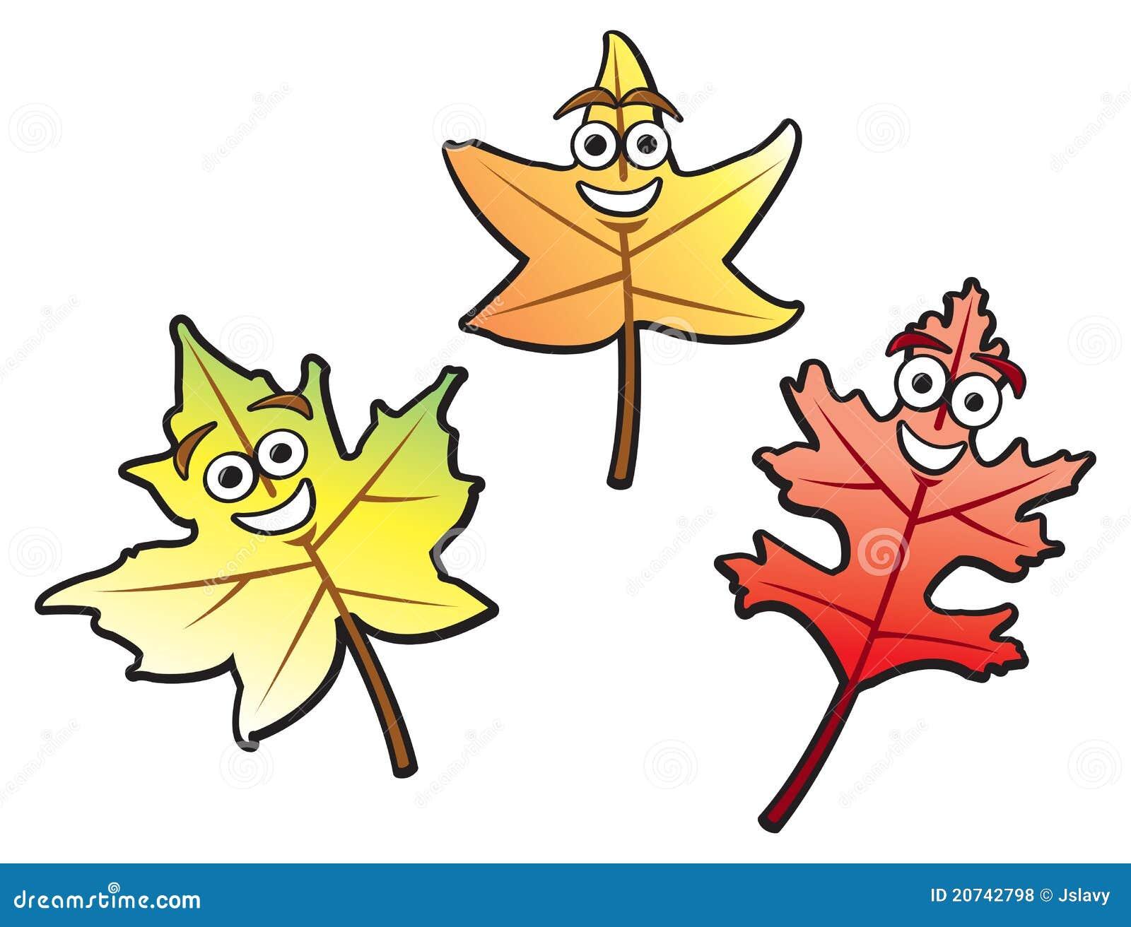 cartoon fall leaves stock vector illustration of leaves 20742798 rh dreamstime com fall leaf cartoon fall leaf cartoon pictures