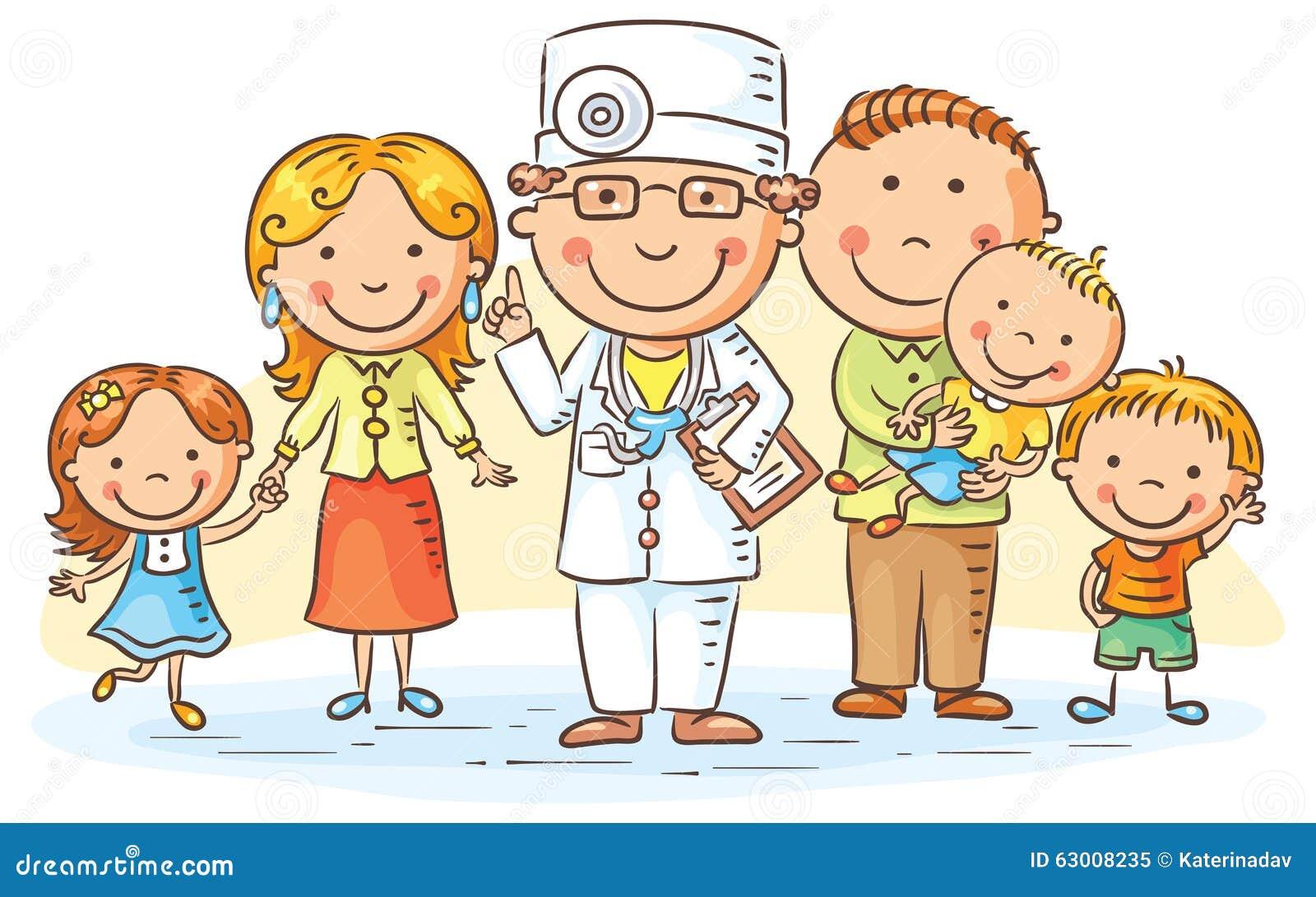 Cartoon Family Doctor Stock Vector Illustration Of Healthcare