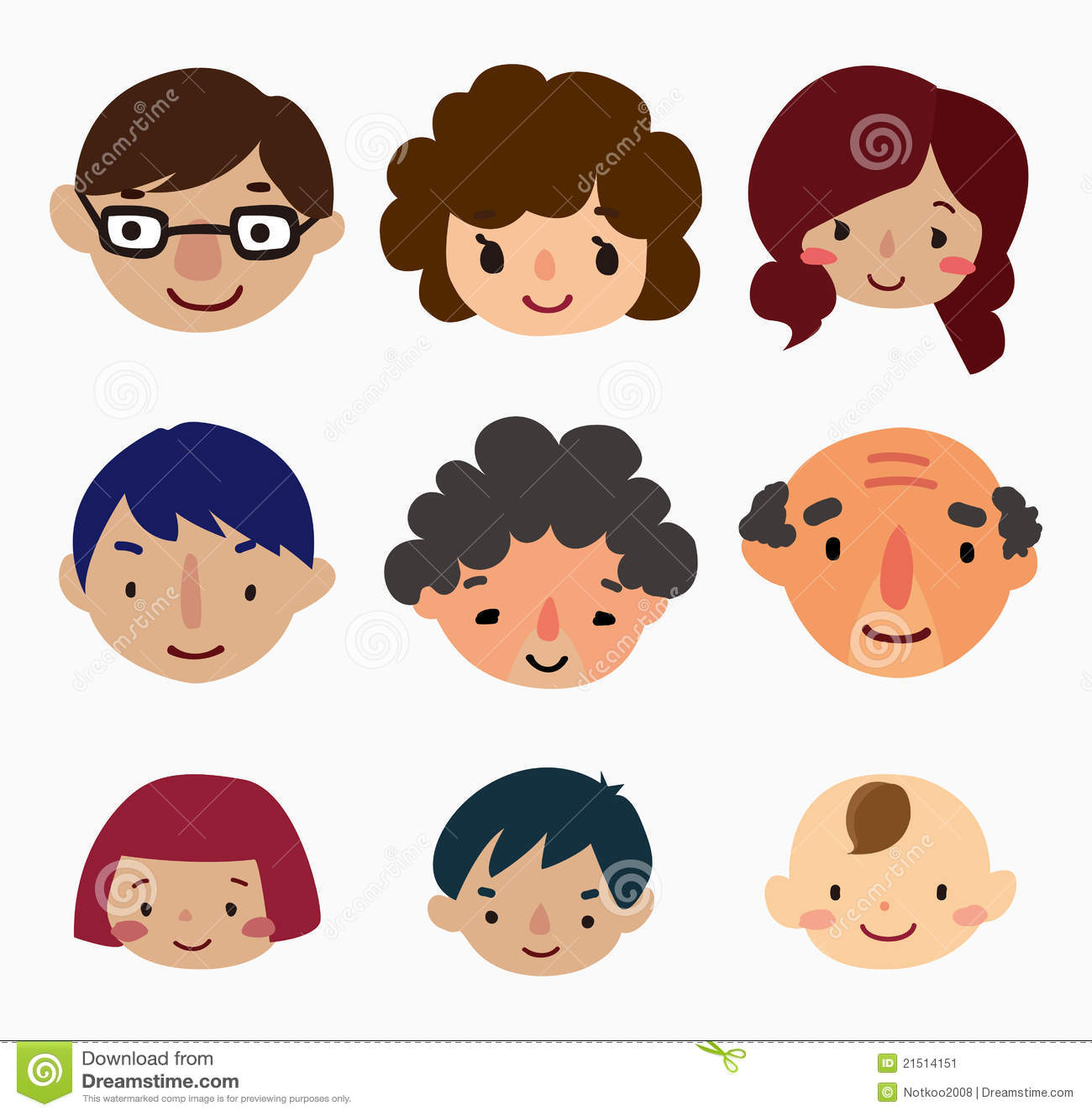Cartoon Family Faces