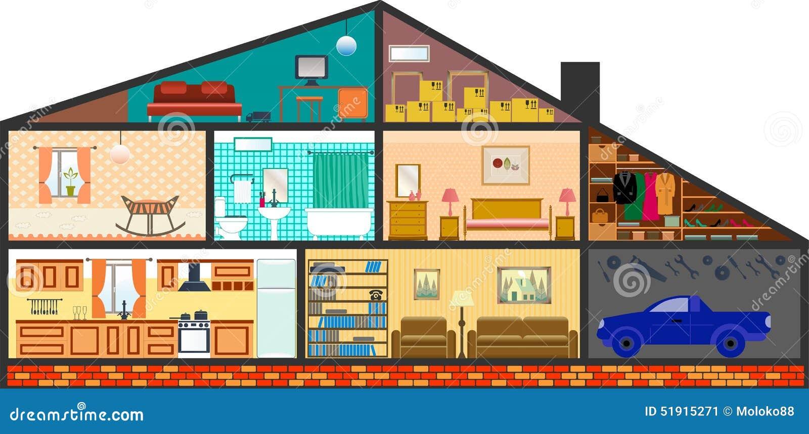 House design cartoon - Royalty Free Vector Download Cartoon Family House