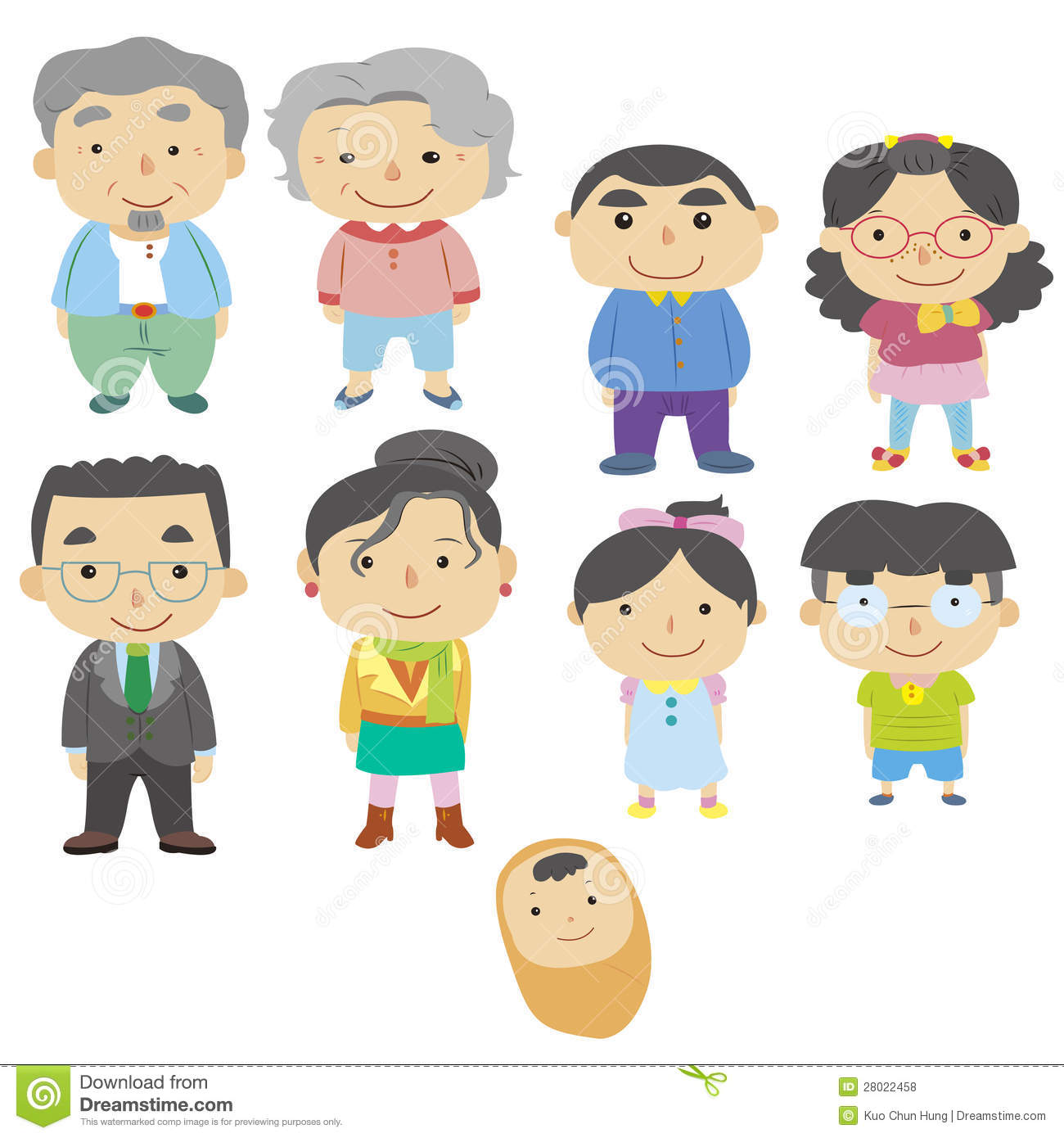 Cartoon Family Icon Royalty Free Stock Photos - Image: 28022458