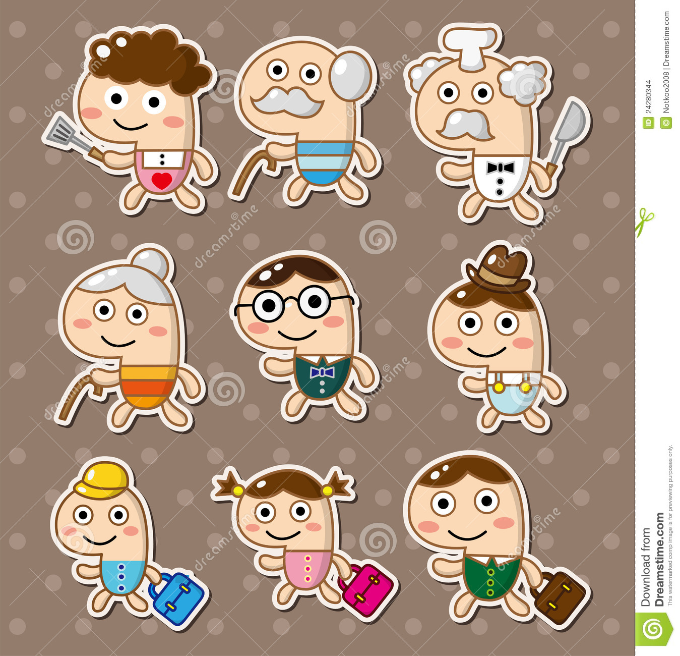 computer icon stickers stock vector illustration of cute 24538247