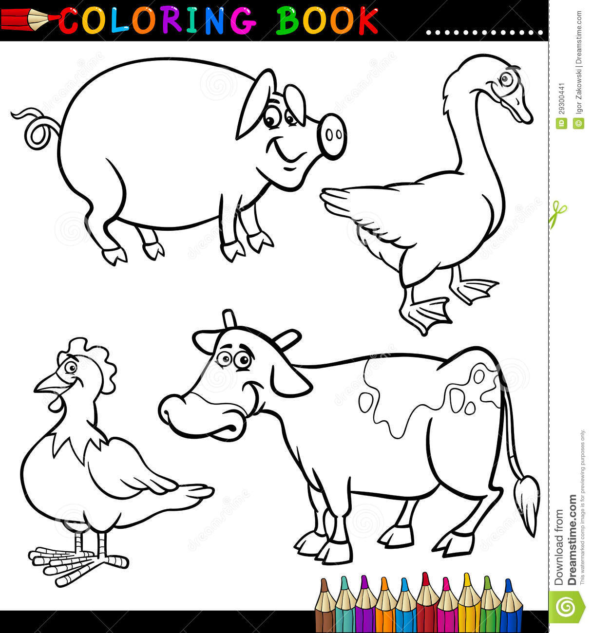 comic barnyard animals coloring pages - photo#5