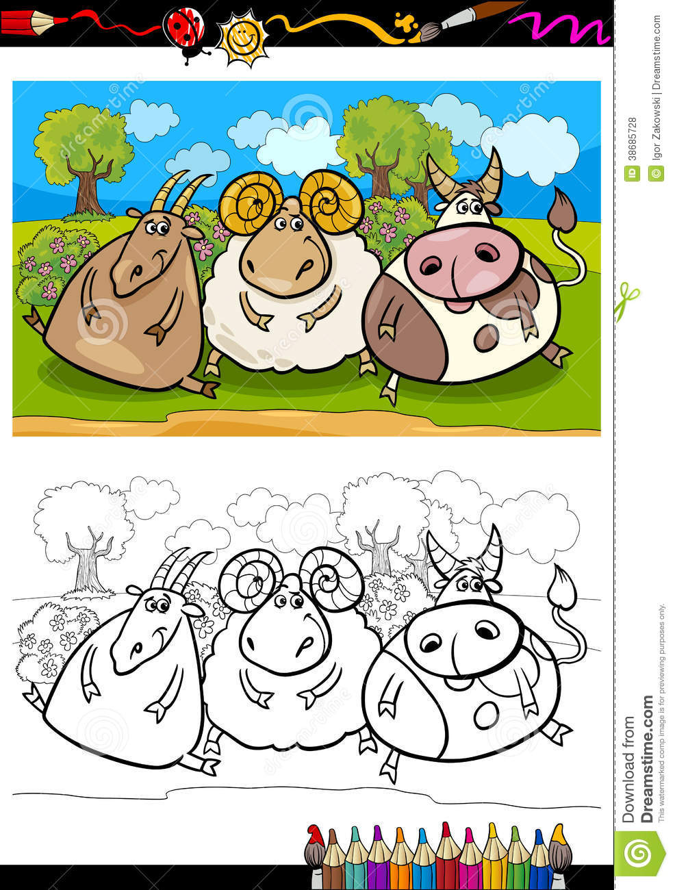 Thank You Coloring Pages Farm